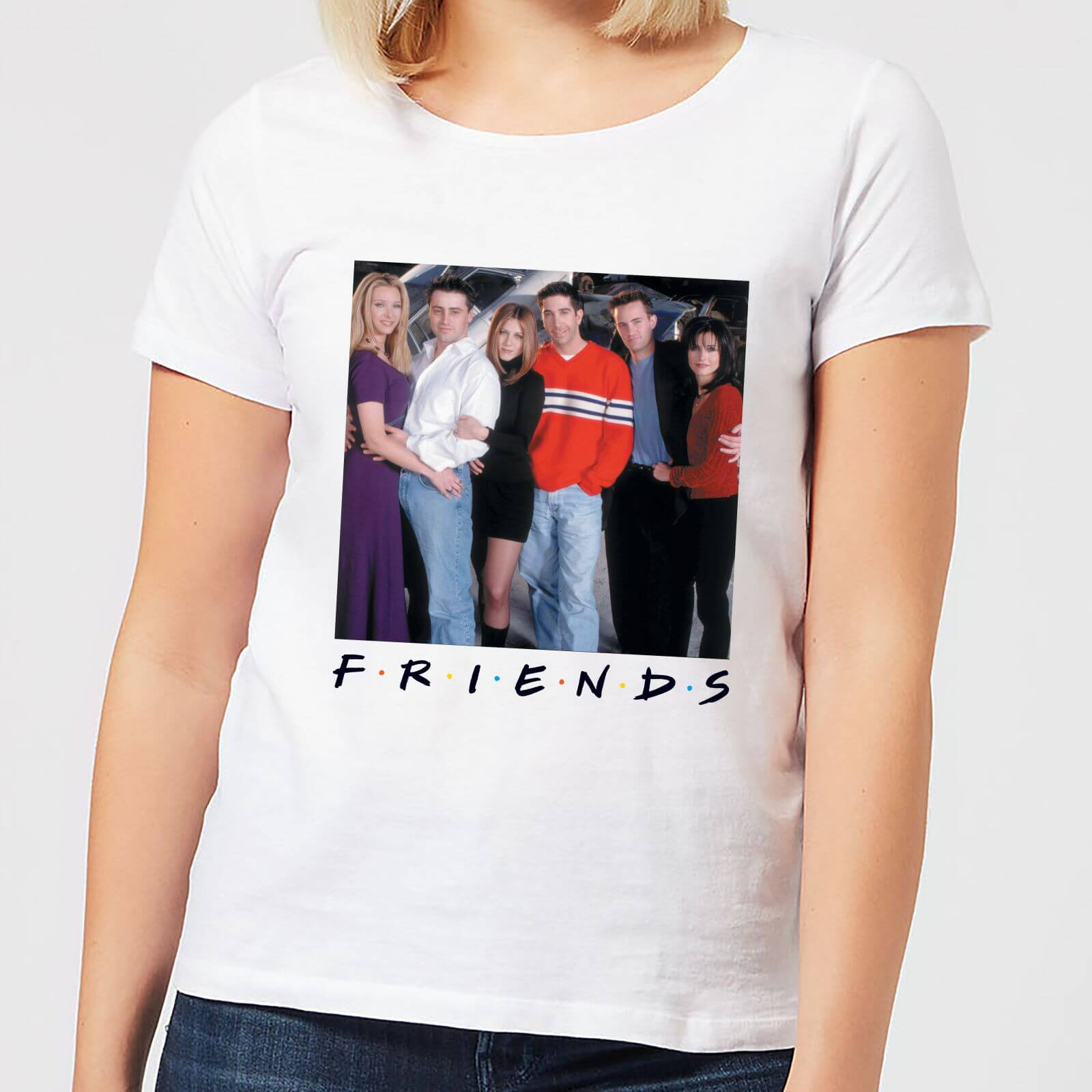 24ca6f86e Friends Cast Pose Women's T-Shirt - White Clothing | Zavvi