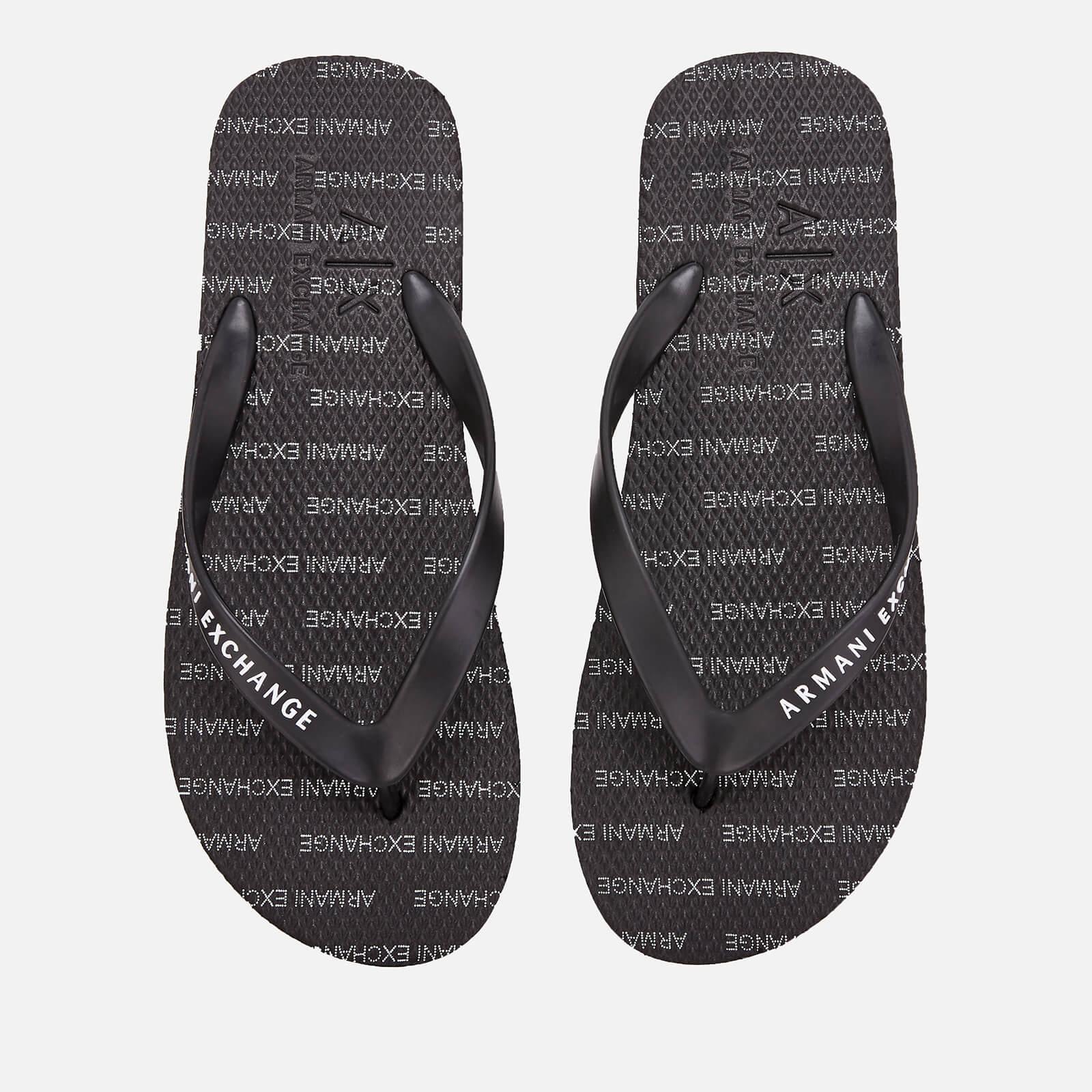 780840ba5 Armani Exchange Men s Printed Flip Flops - Black Mens Footwear ...