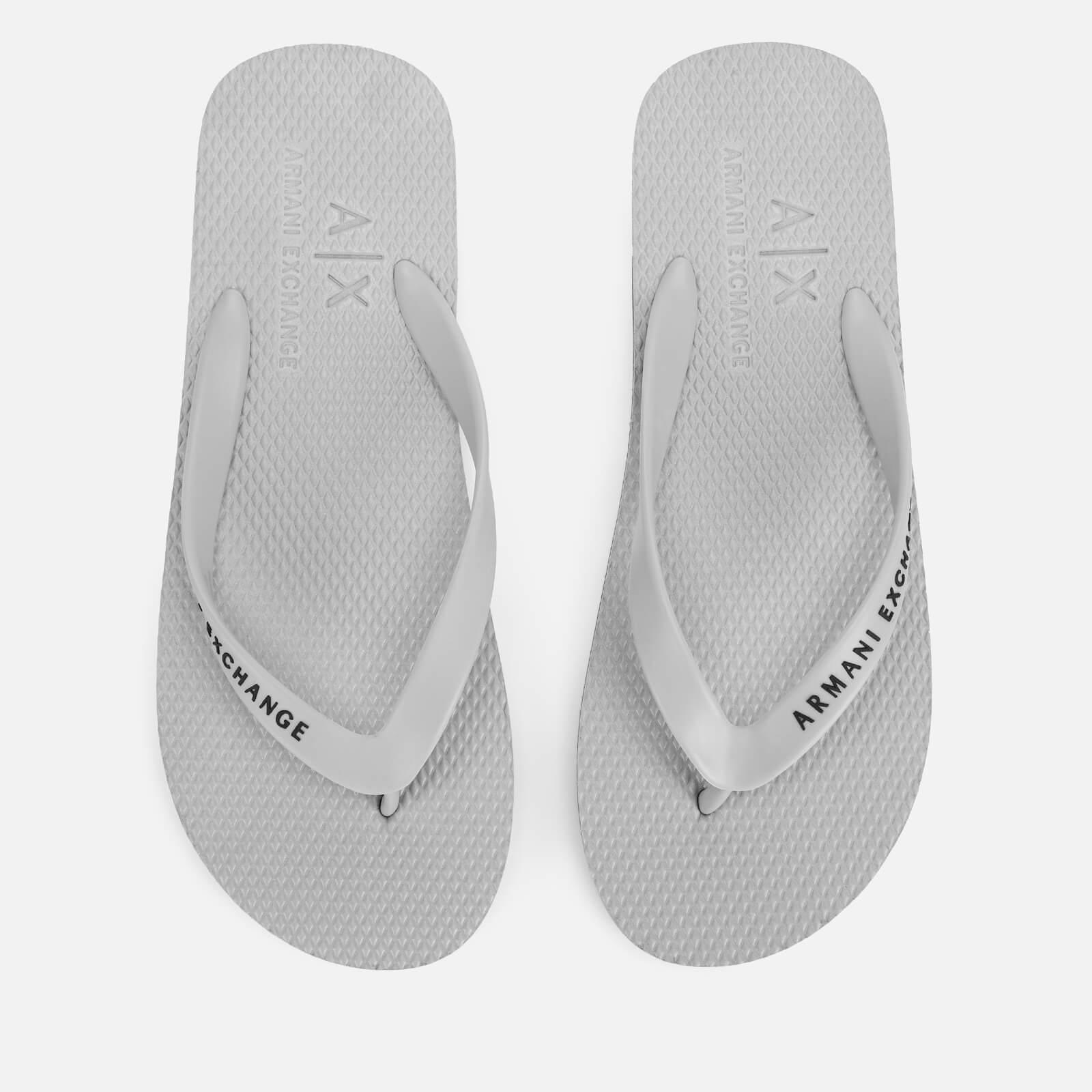 f2da8981d1e3 Armani Exchange Men s Flip Flops - Alloy Mens Footwear