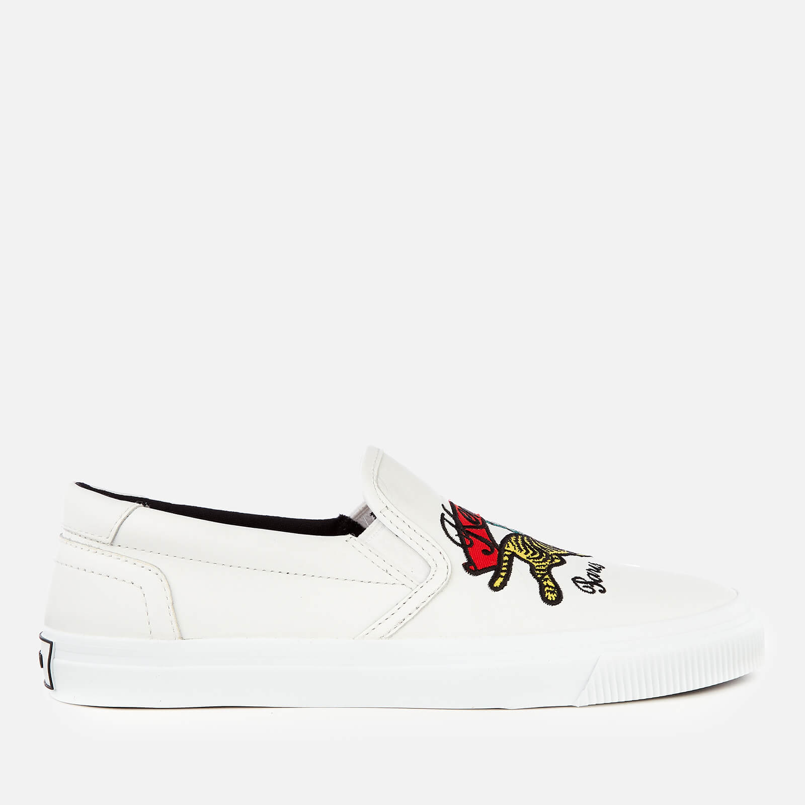 8c33be94fa6 KENZO Women s K-Skate Jumping Tiger Slip-On Trainers - White - Free UK  Delivery over £50