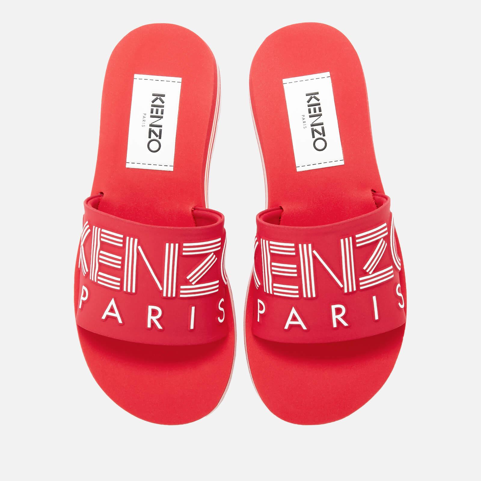 3b1d13225 KENZO Women's Papaya Slide Sandals - Medium Red - Free UK Delivery over £50