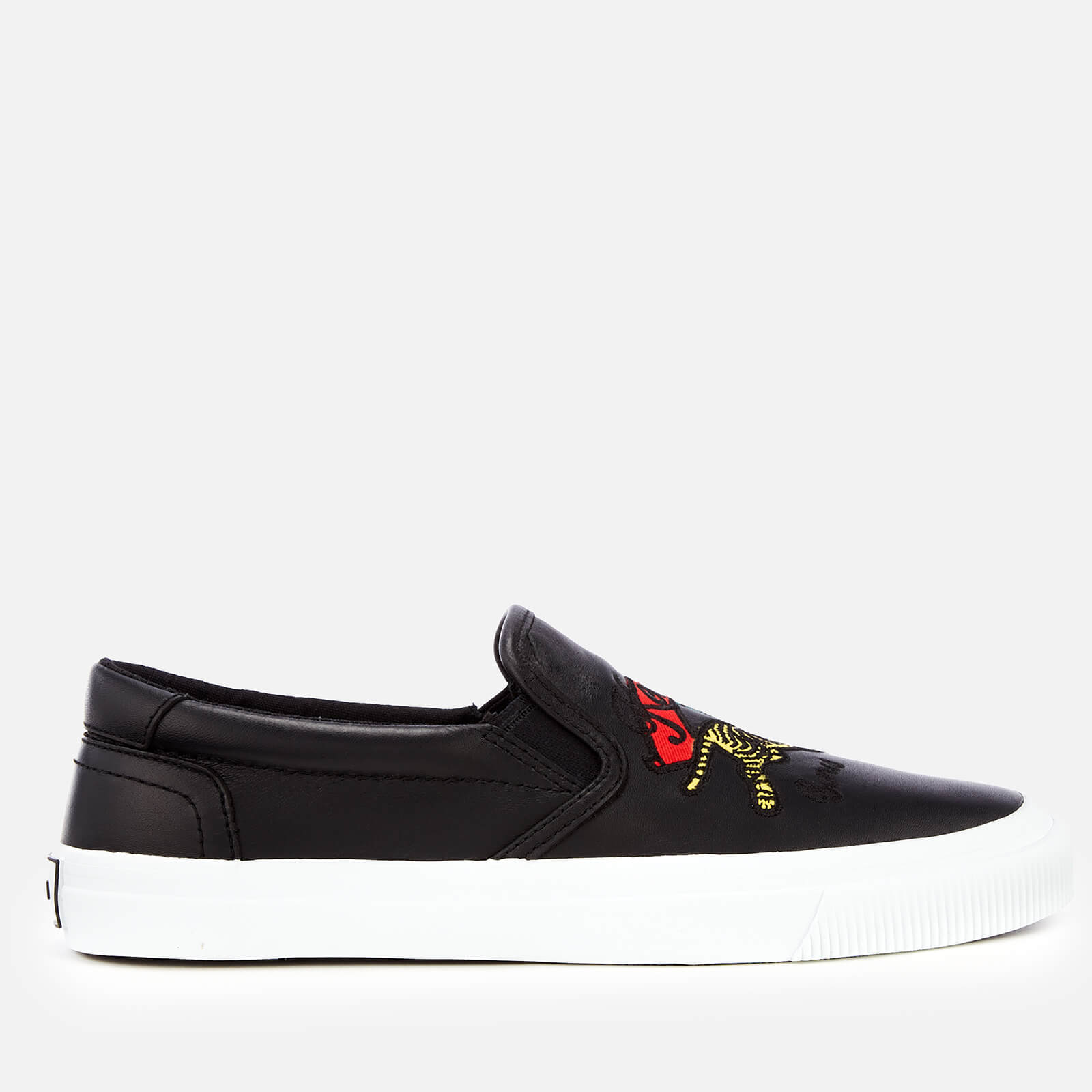 f3864387e5d KENZO Women s K-Skate Jumping Tiger Slip-On Trainers - Black - Free UK  Delivery over £50