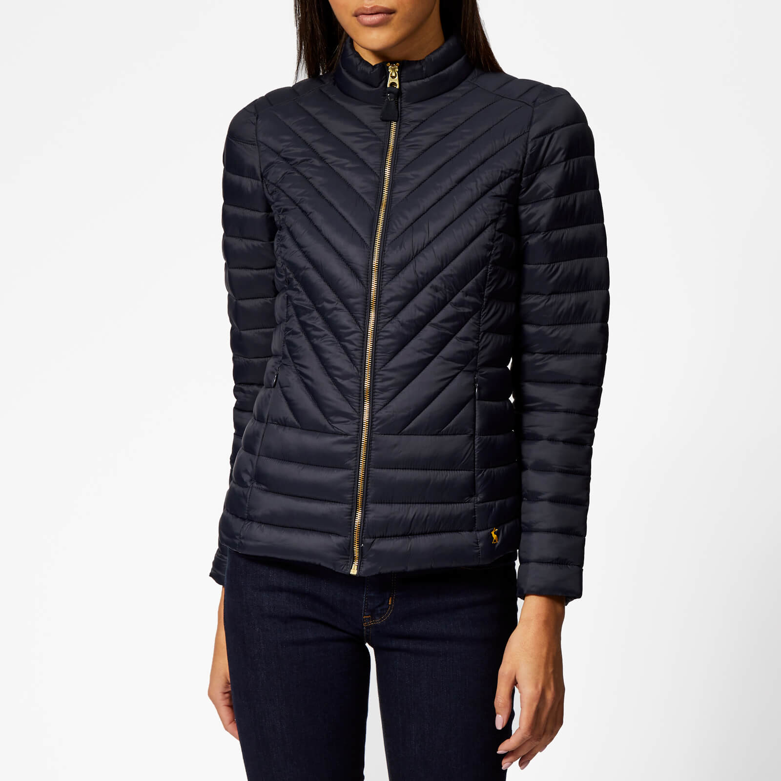 90690daf38fd Joules Women S Elo Chevron Quilted Jacket Marine Navy Womens