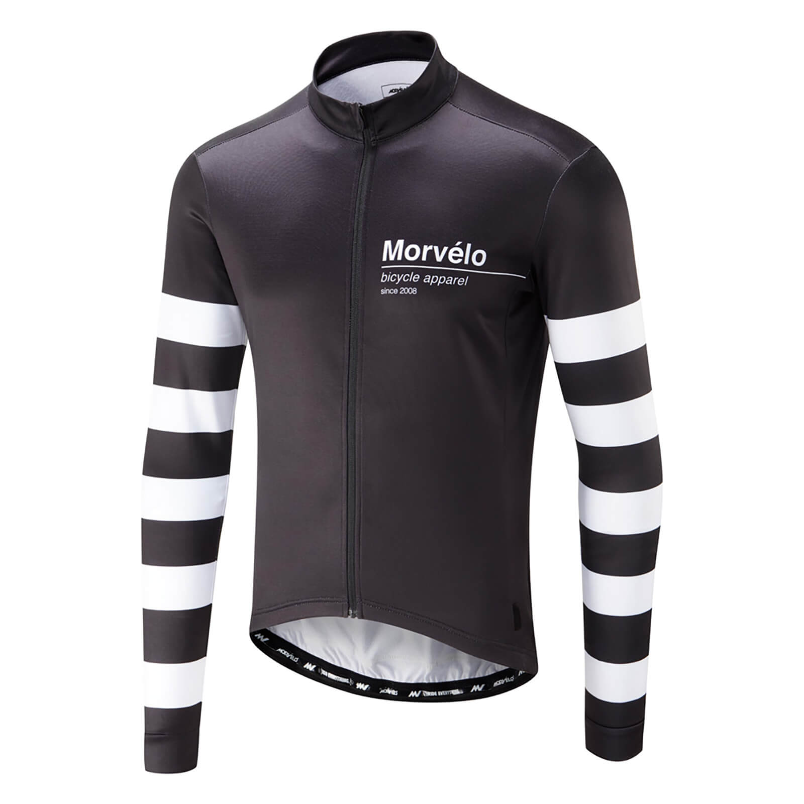 Morvelo Swiss Thermoactive Long Sleeve Jersey - Black White ... 26d291468