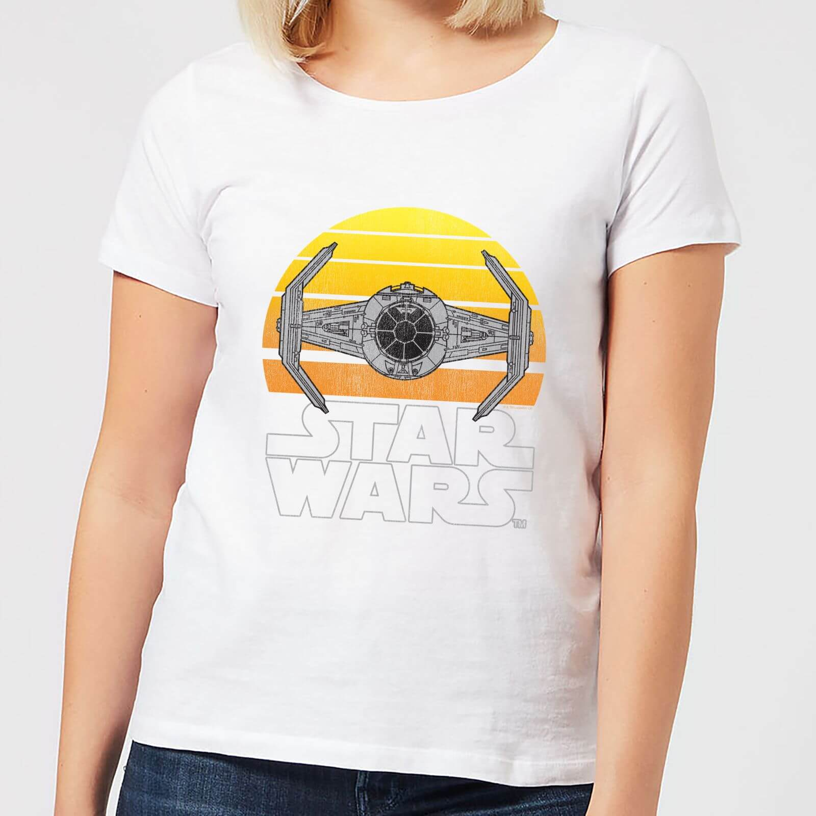 Star Wars Classic Star Wars Sunset Tie Damen T Shirt Weiß