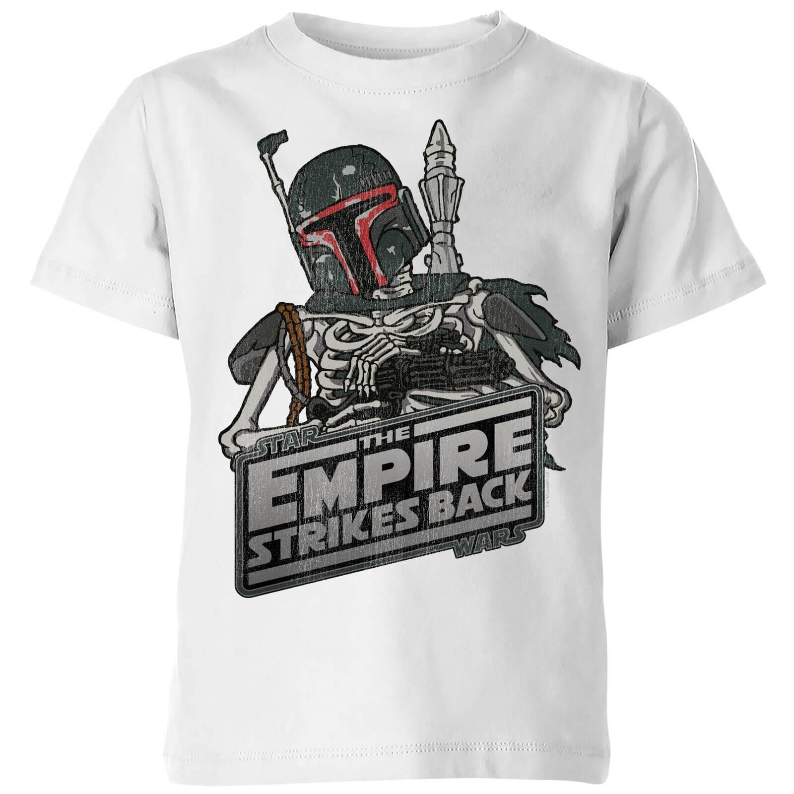 a8ad26af63f Star Wars Boba Fett Skeleton Kids  T-Shirt - White Clothing