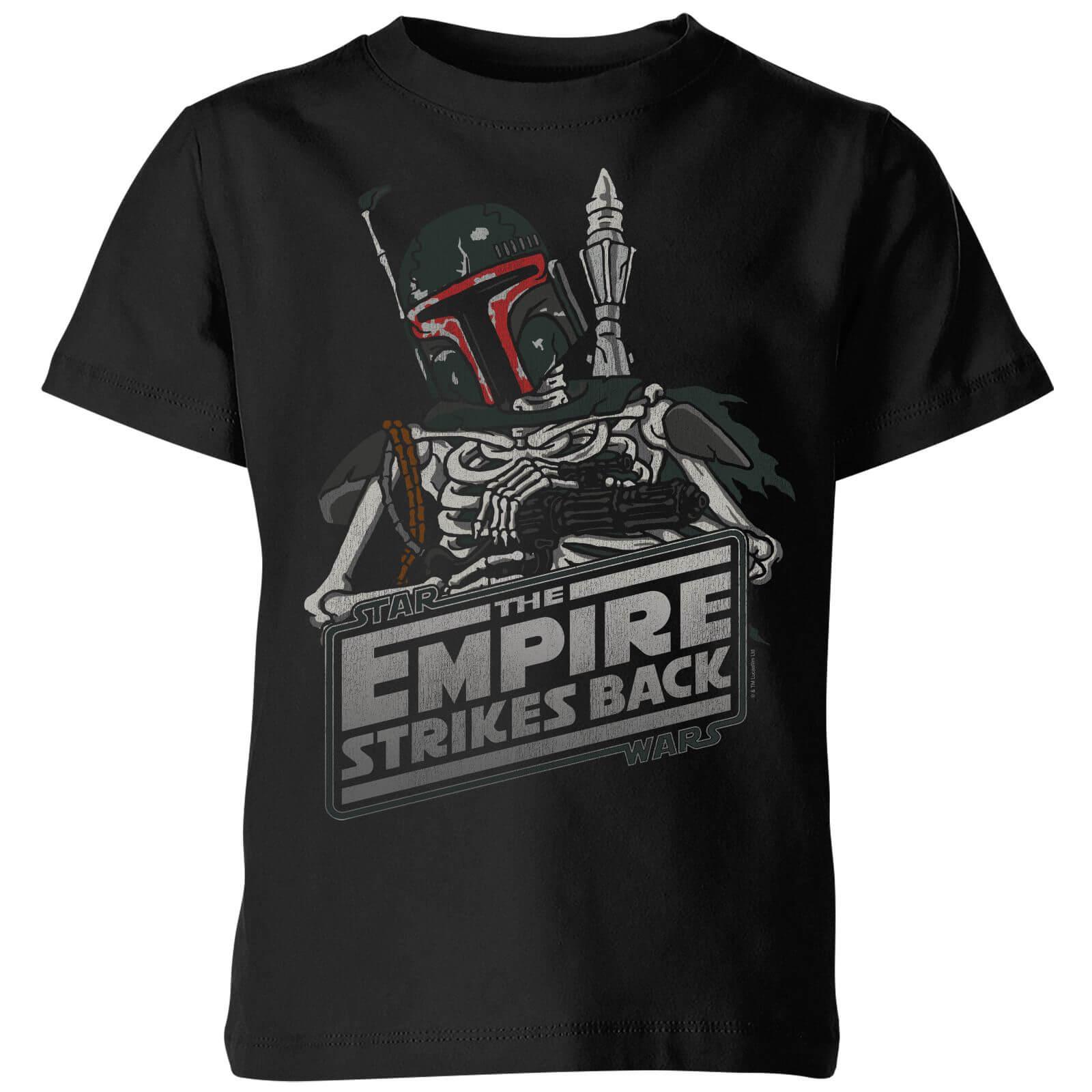 0ed7136e20c Star Wars Boba Fett Skeleton Kids  T-Shirt - Black. Description