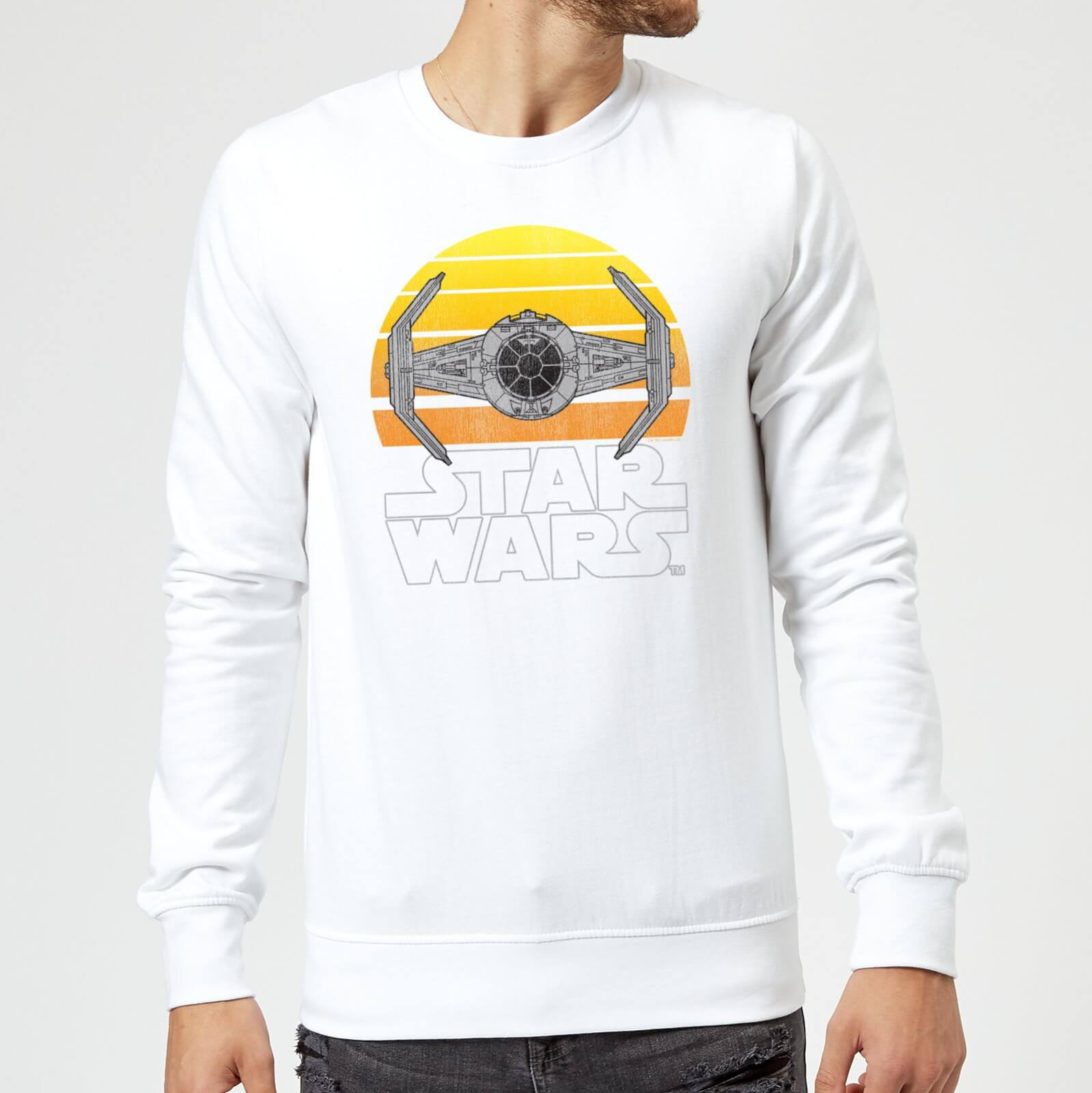 Star Wars Classic Star Wars Sunset Tie Pullover Weiß