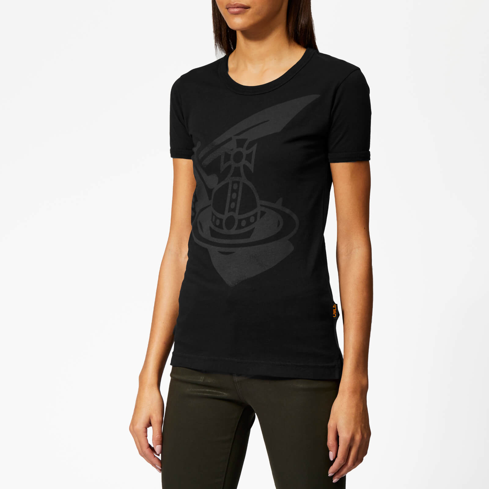 ffab1151993ec Vivienne Westwood Anglomania Women s Classic T-Shirt - Black - Free UK  Delivery over £50