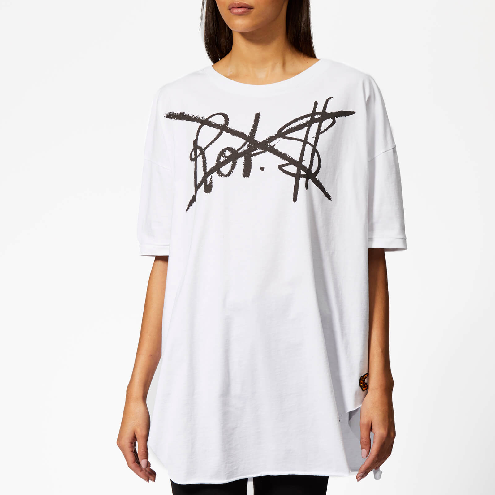 5590041e Vivienne Westwood Anglomania Women's Baggy T-Shirt - White - Free UK  Delivery over £50