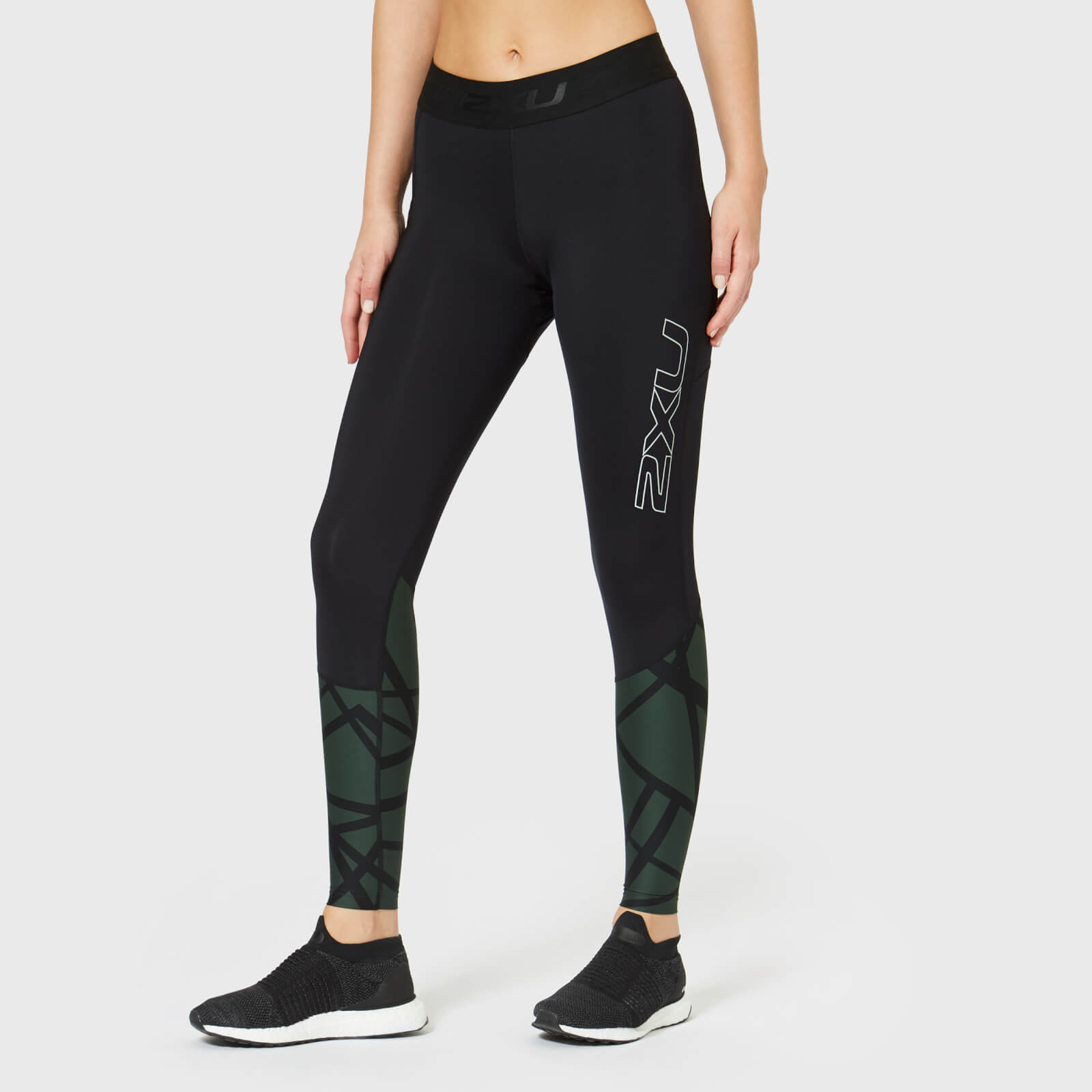 a28858a6e0 2XU Women's Accelerate Compression Tights with Storage - Black Clothing    TheHut.com