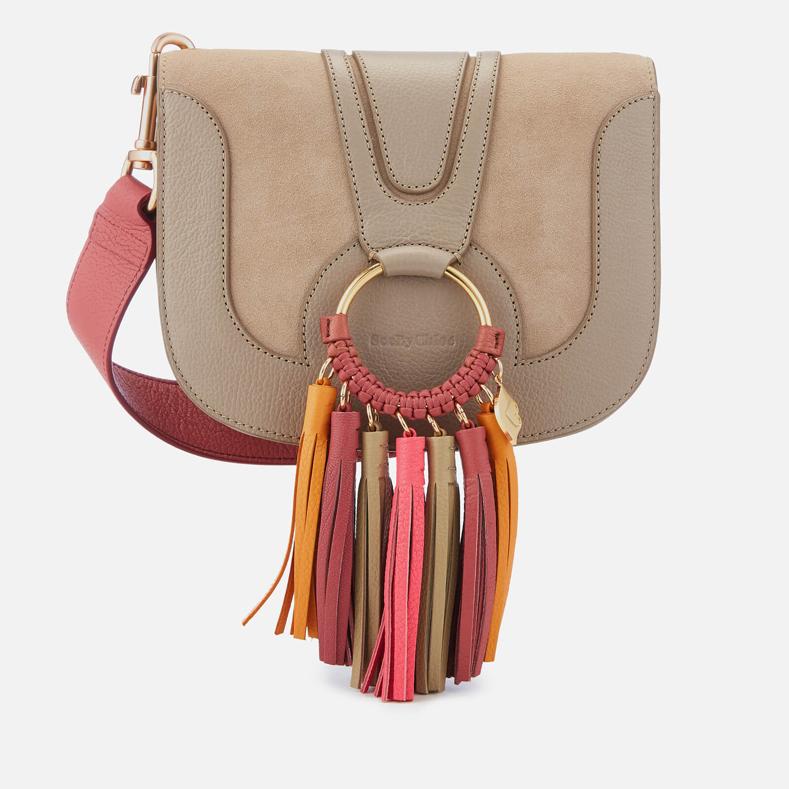 4f205c9fbf ... See By Chloé Women s Hana Cross Body Bag with Contrast Tassel - Motty  Grey
