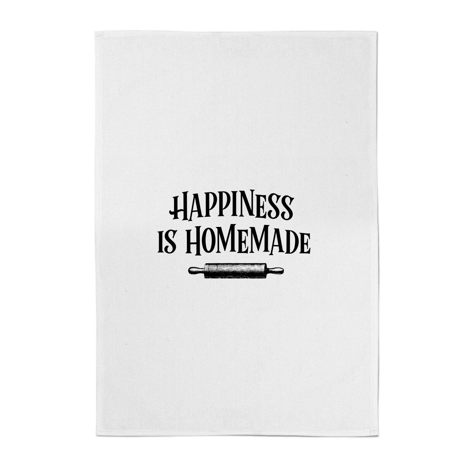 photo relating to Happiness is Homemade called Pleasure Is Handmade Cotton Tea Towel
