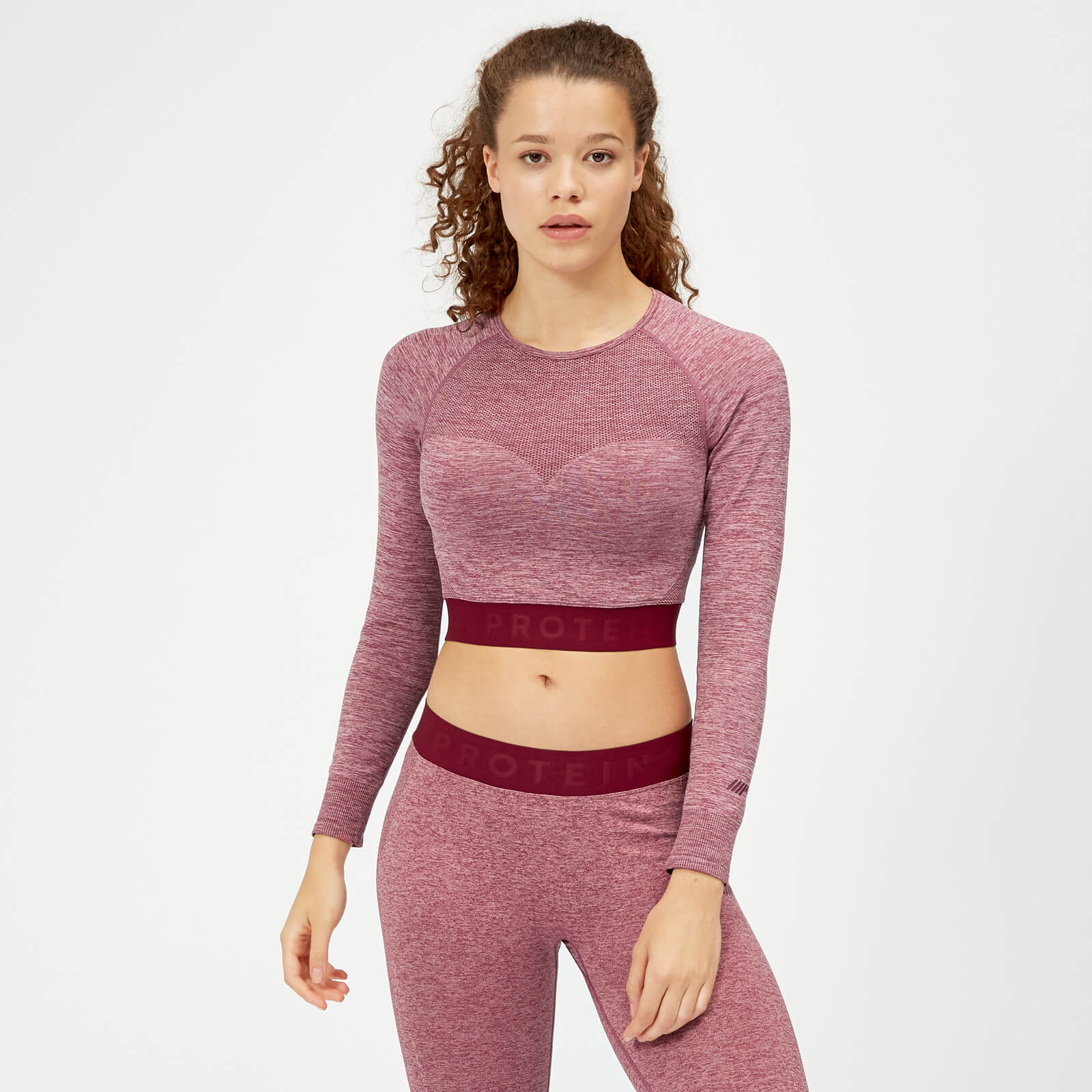 eb29573f5b8a8b ... Myprotein Inspire Seamless Crop Top - Dusty Rose - XS - Dusty Rose
