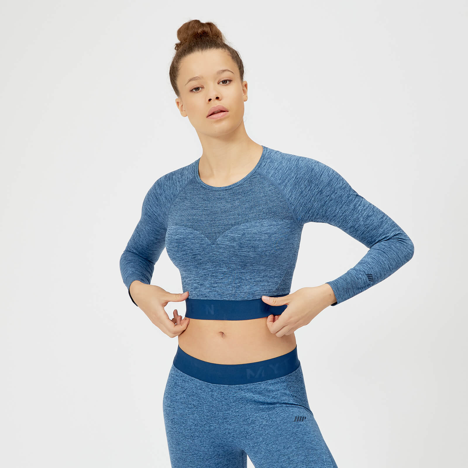 995e5648709d8d ... Inspire Seamless Crop Top - Blue - XS - Soft Blue