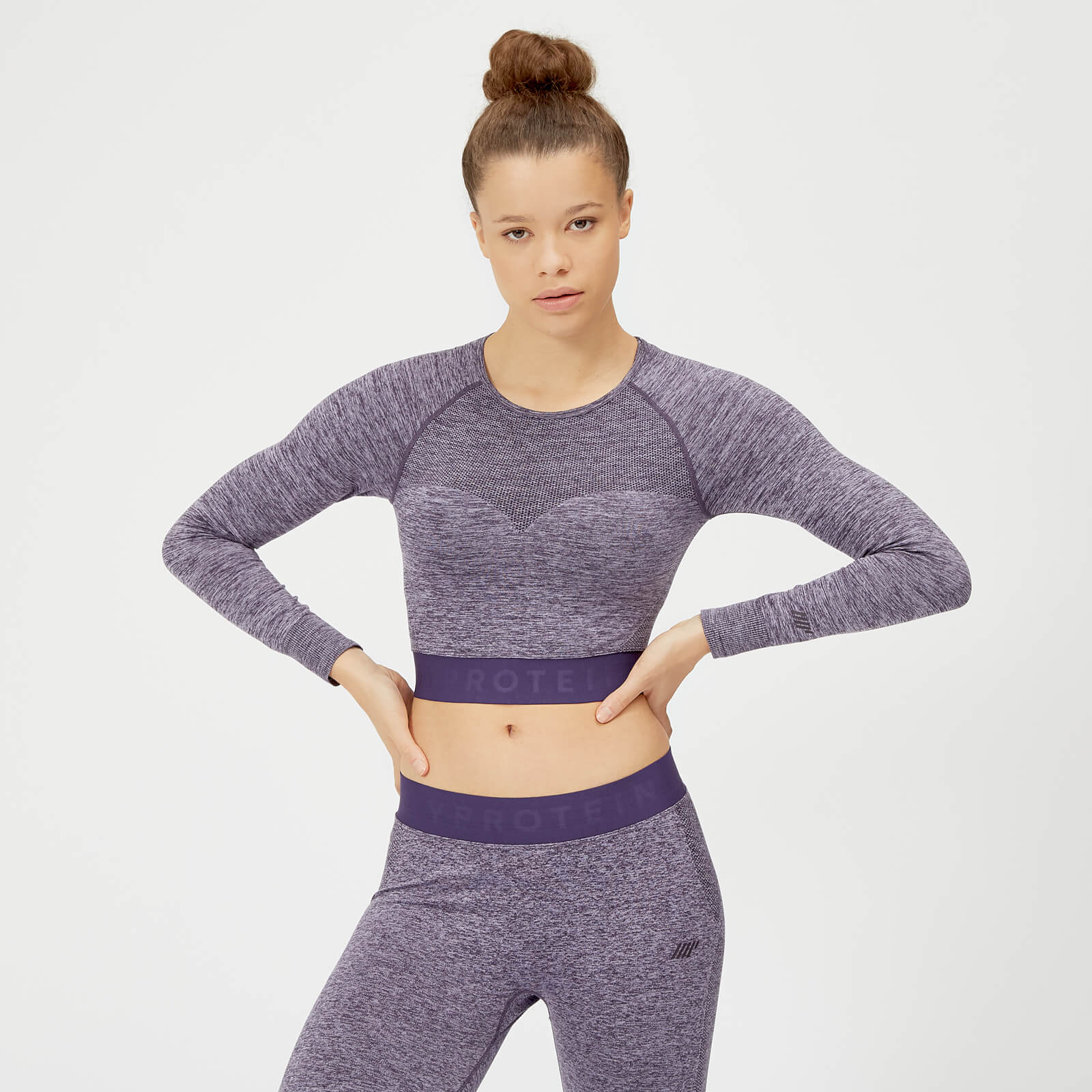 34e9149908826a ... Inspire Seamless Crop Top - Purple - XS - Soft Purple