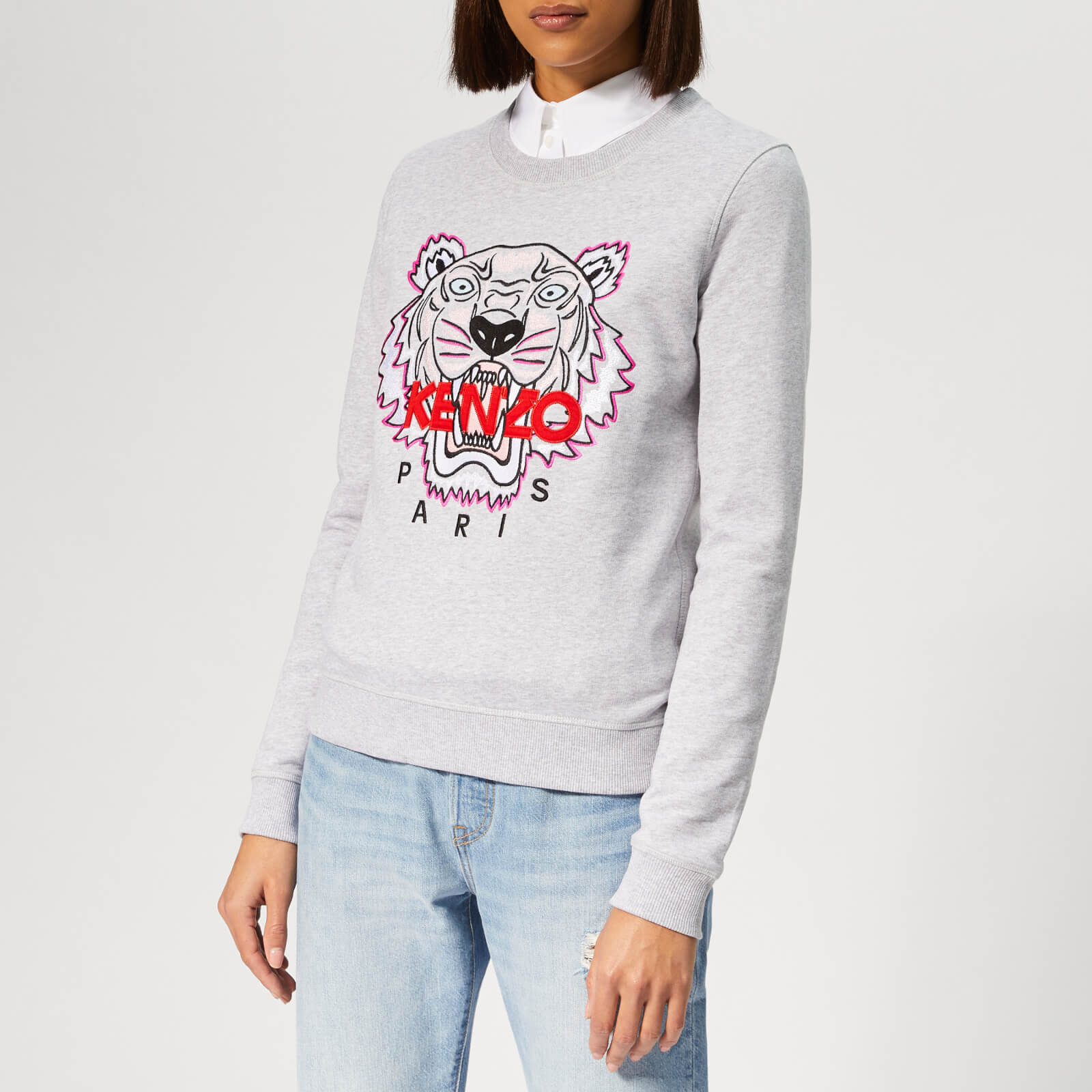 ddb27f0131 KENZO Women's Tiger Classic Sweatshirt - Pale Grey - Free UK Delivery over  £50