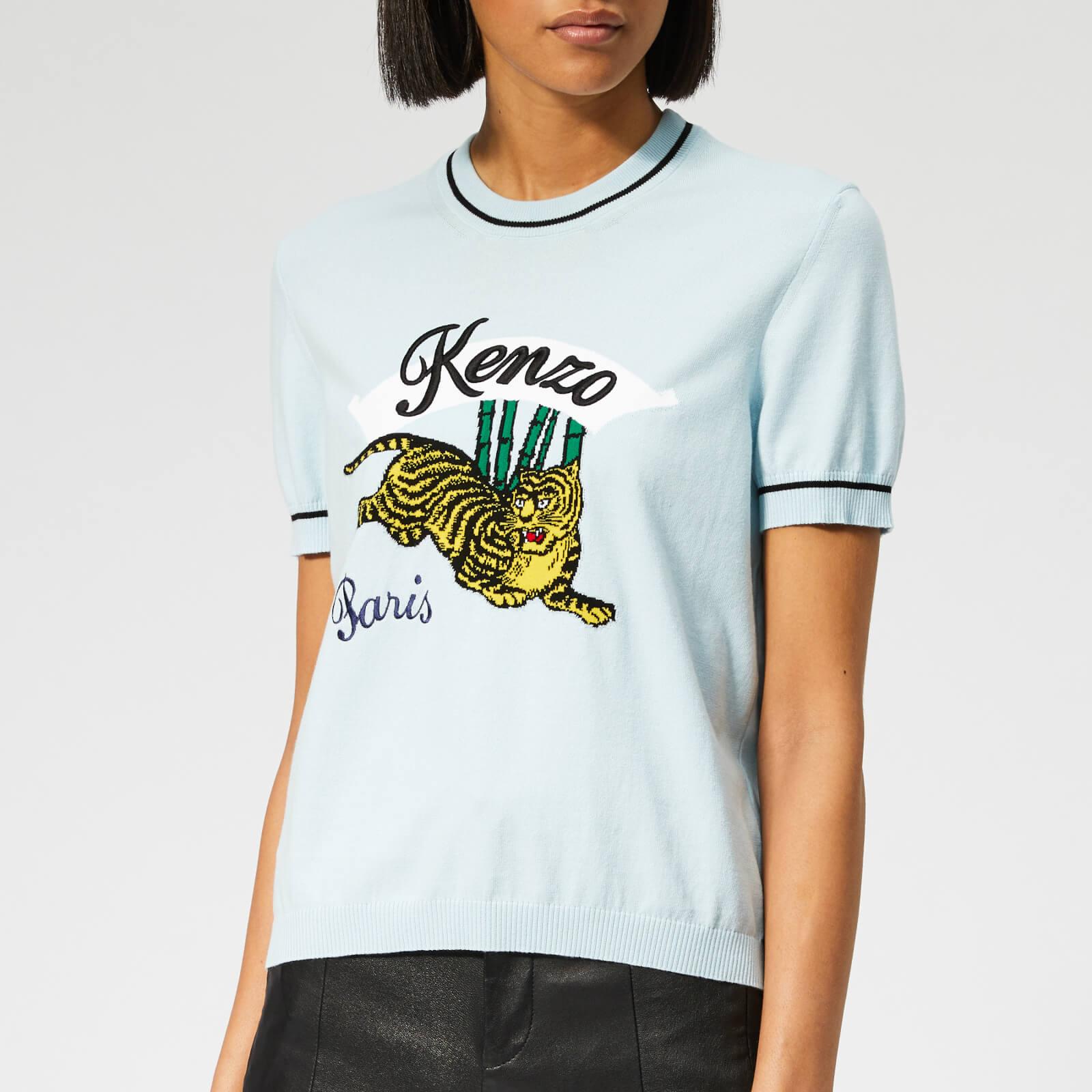 a41e9389b0 KENZO Women's Bamboo Tiger T-Shirt - Sky Blue