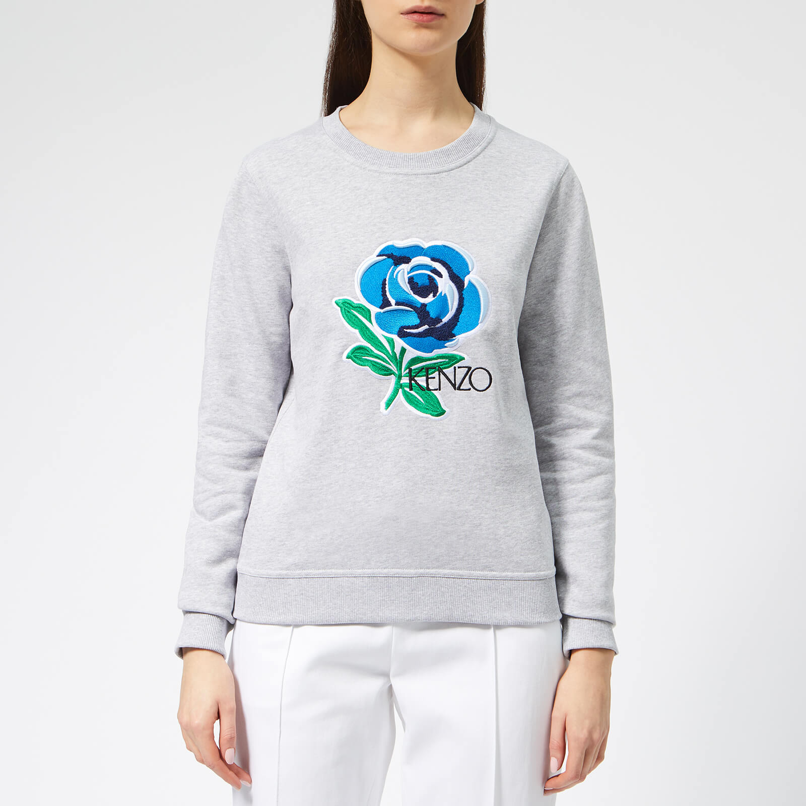 943d956f KENZO Women's Fitted Sweatshirt - Pale Grey - Free UK Delivery over £50