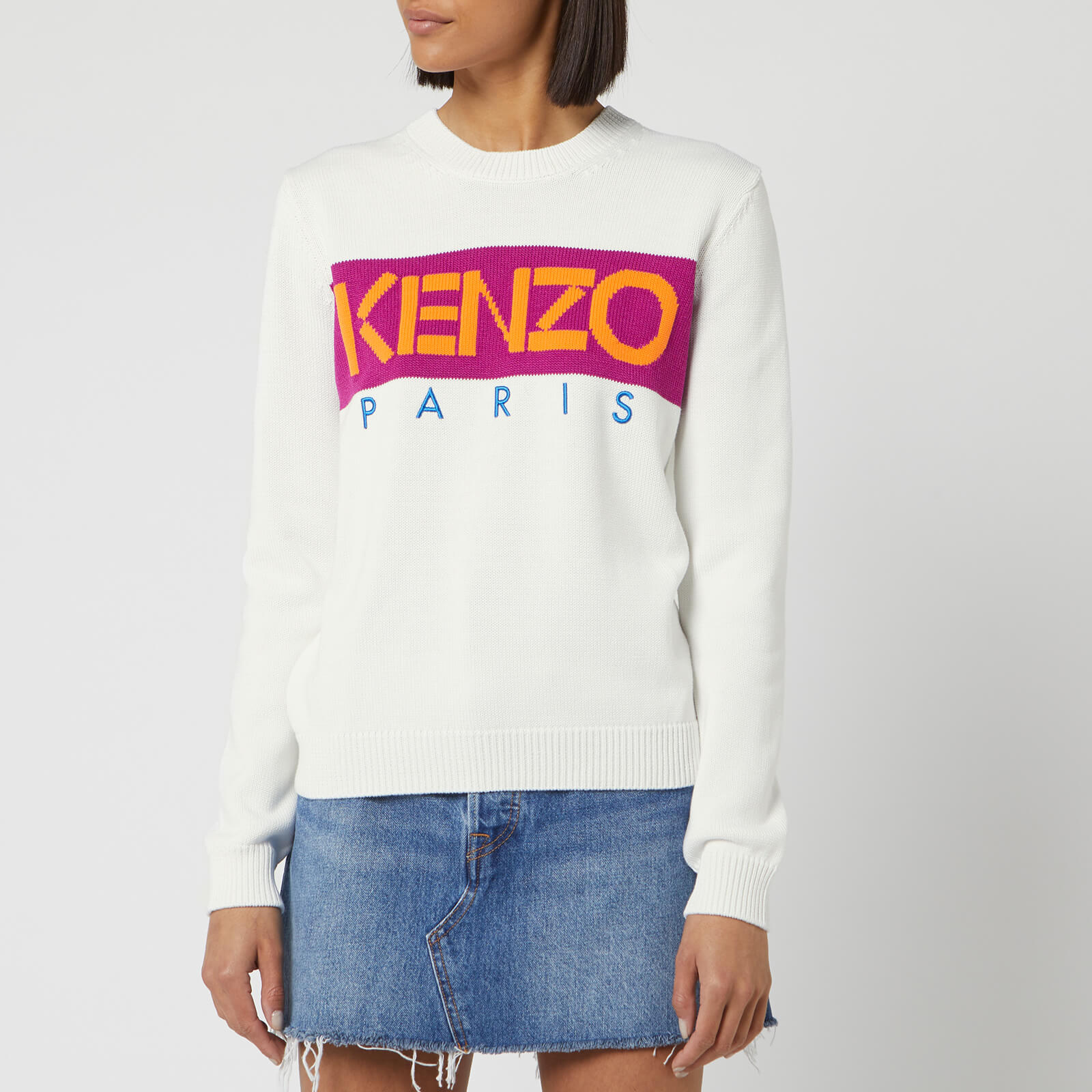 c07cf3a2 KENZO Women's KENZO Paris Jumper - White - Free UK Delivery over £50