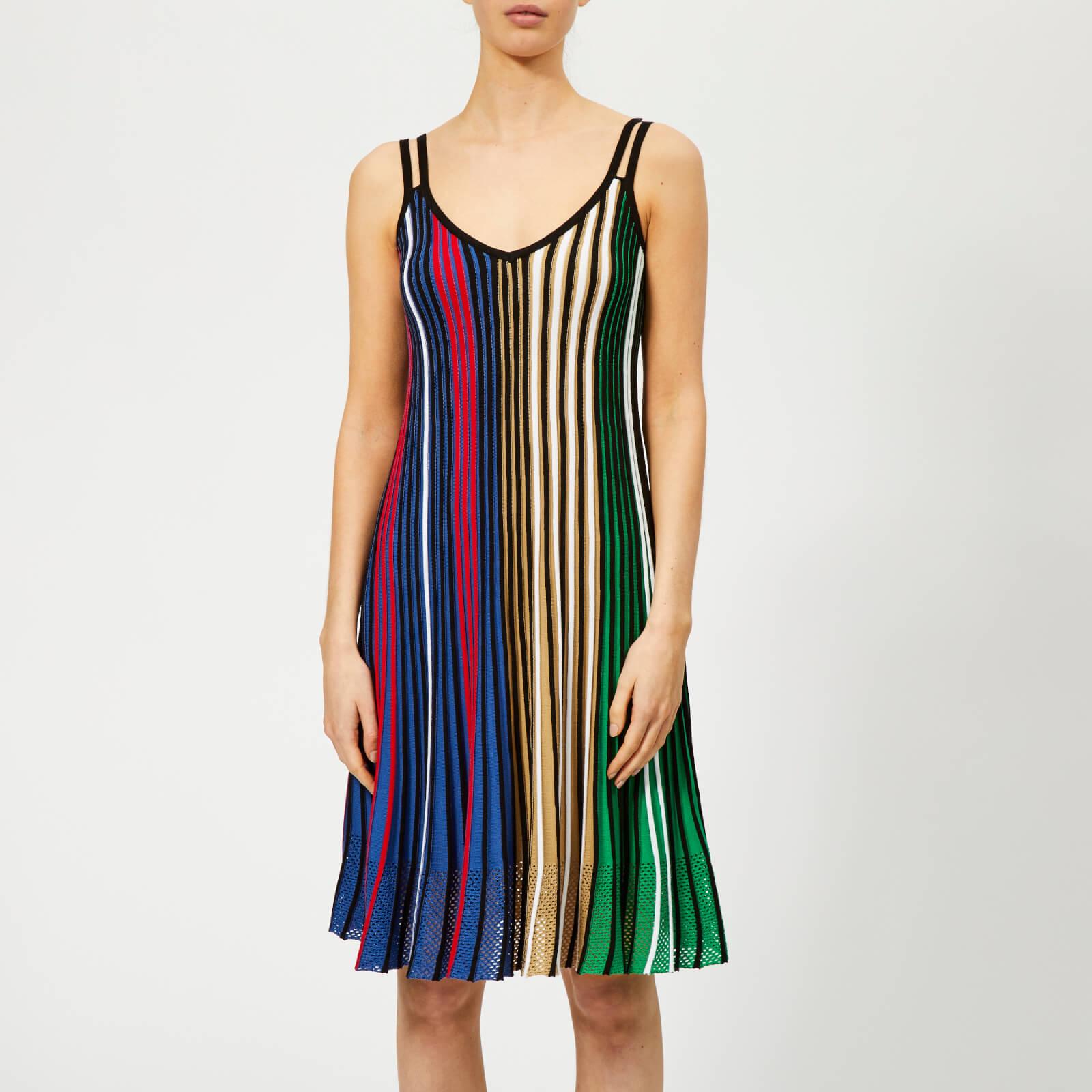 5ac4e3fdb8a31 KENZO Women's Vertical Ribs Sleeveless Dress - Multicolor