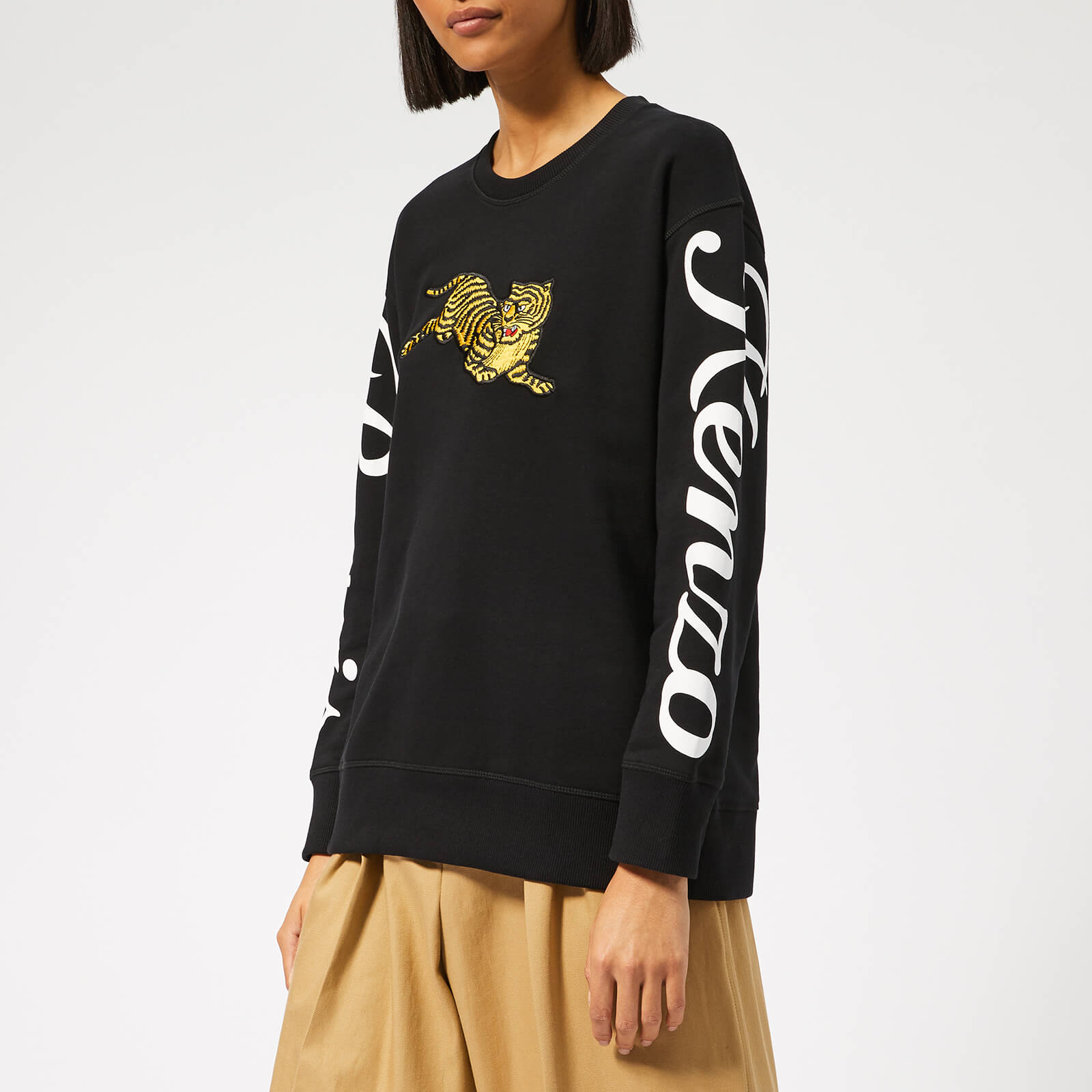 fe88c4b4b9e8 KENZO Women's Jumping Tiger Relax Sweatshirt - Black - Free UK Delivery  over £50