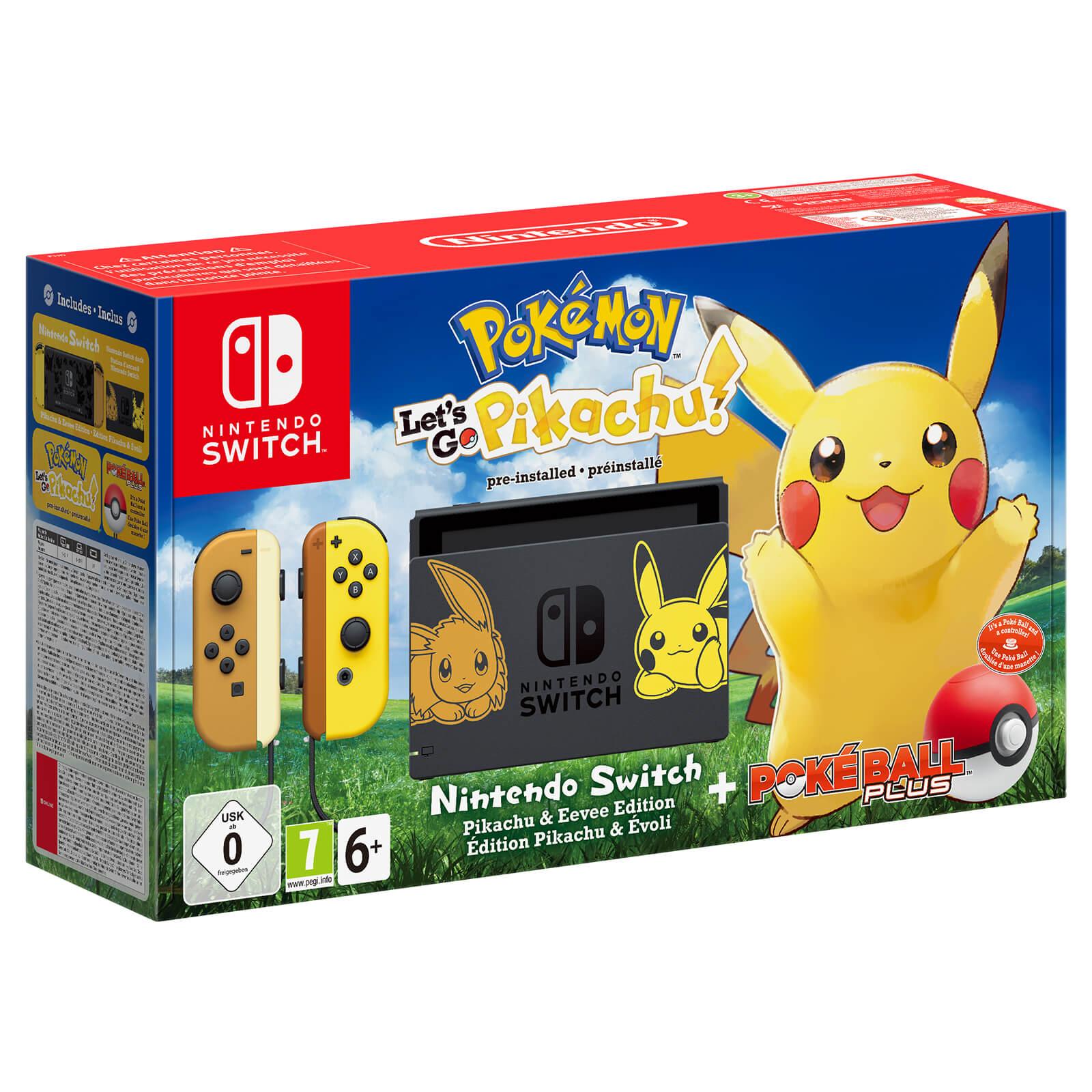 Nintendo Switch Pok 233 Mon Let S Go Pikachu Edition Pack
