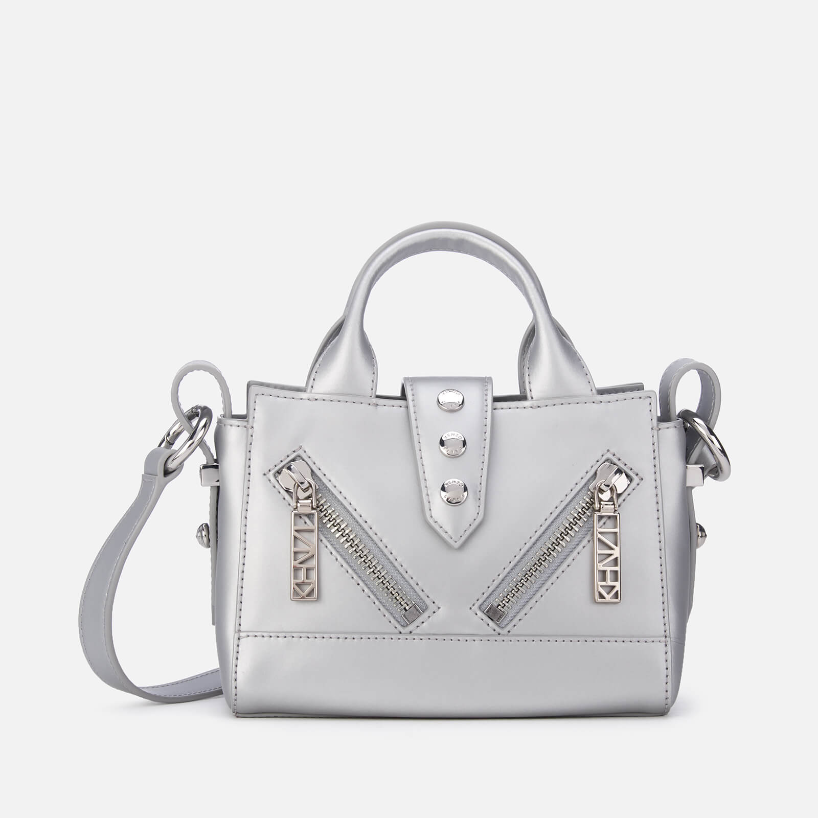 fa23711131b KENZO Women's Kalifornia Tiny Shoulder Bag - Silver - Free UK Delivery over  £50
