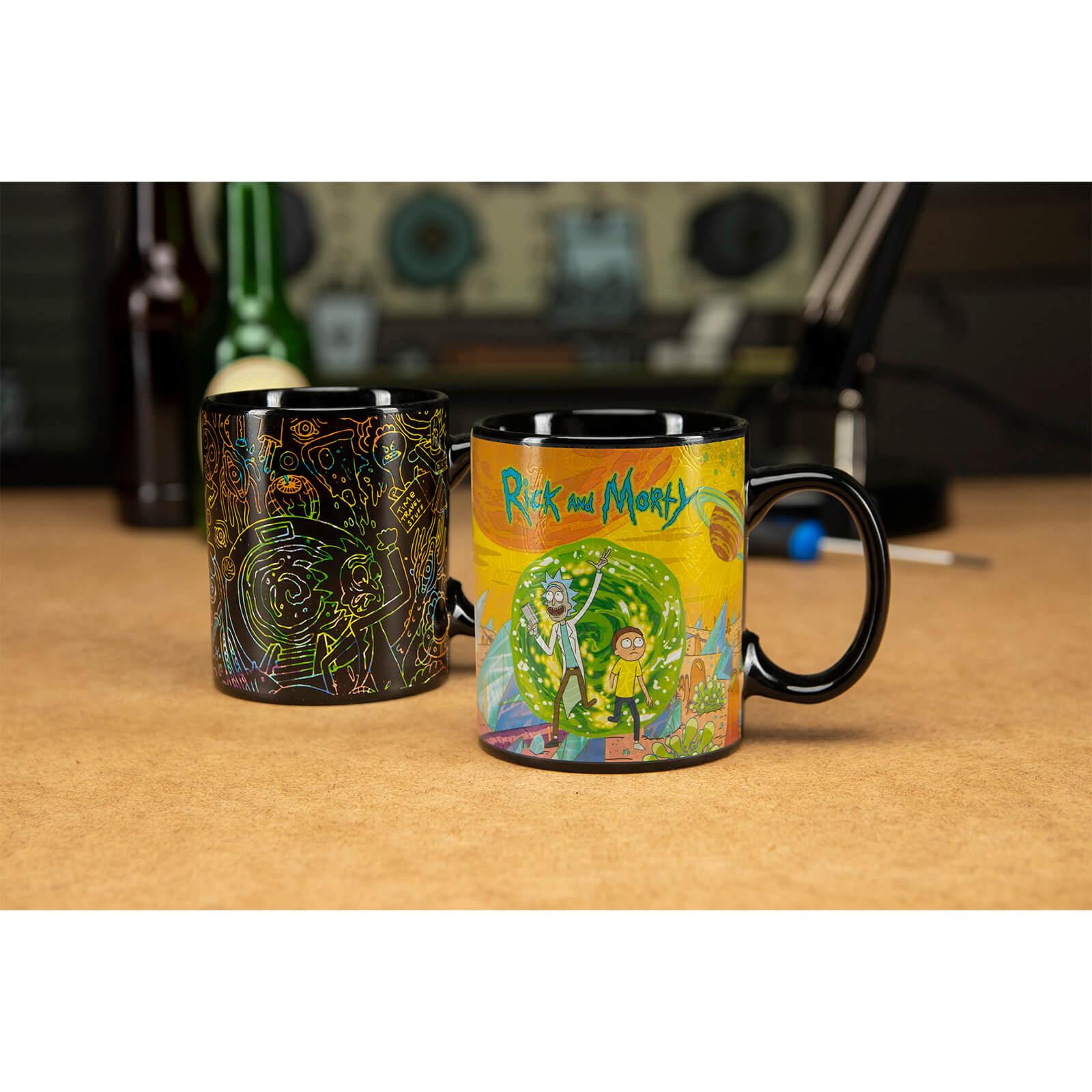 5c26c113261 Rick and Morty Portals Heat Change Mug