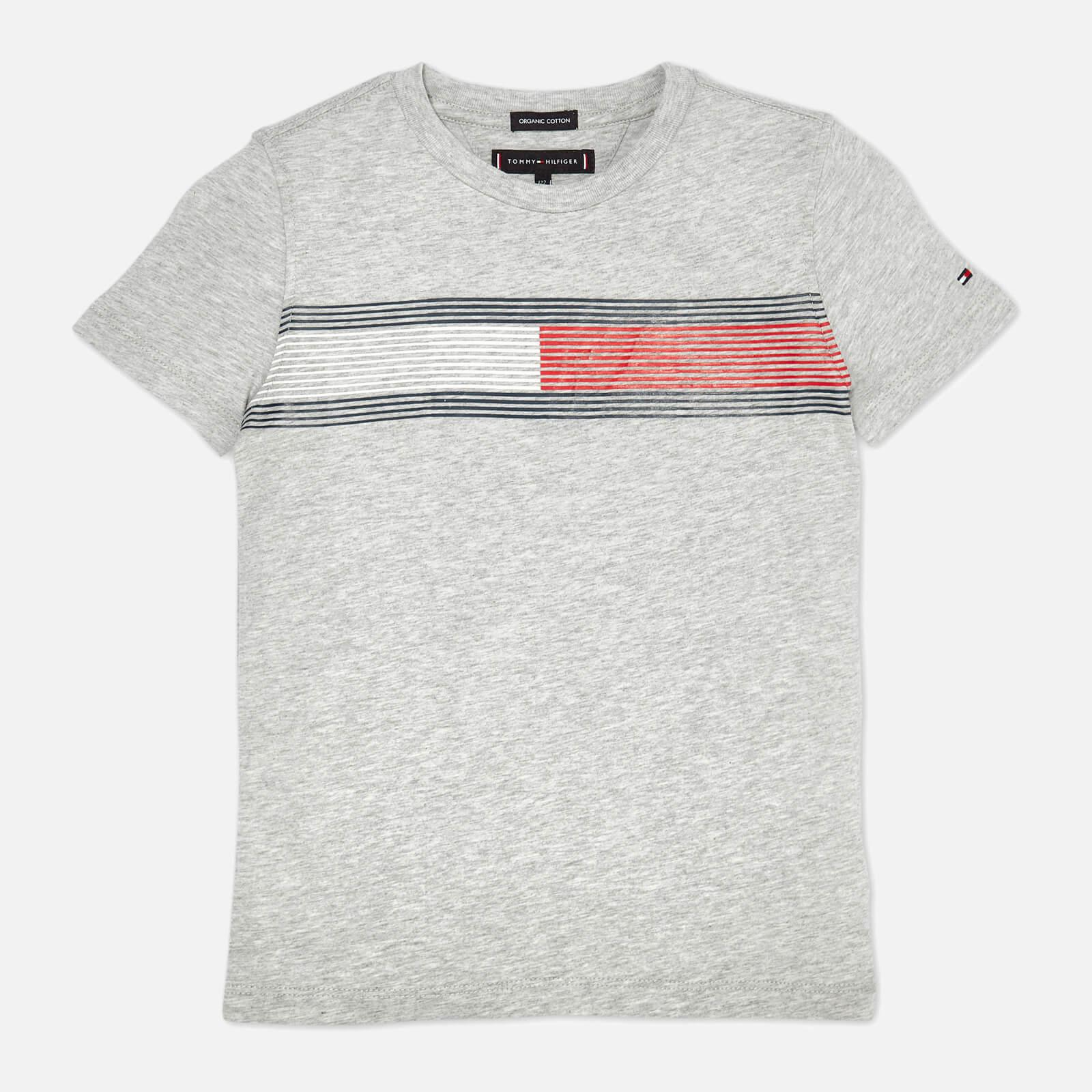 98b9f7bf Tommy Hilfiger Boys' Essential Flag Logo T-Shirt - Grey Heather Clothing |  TheHut.com