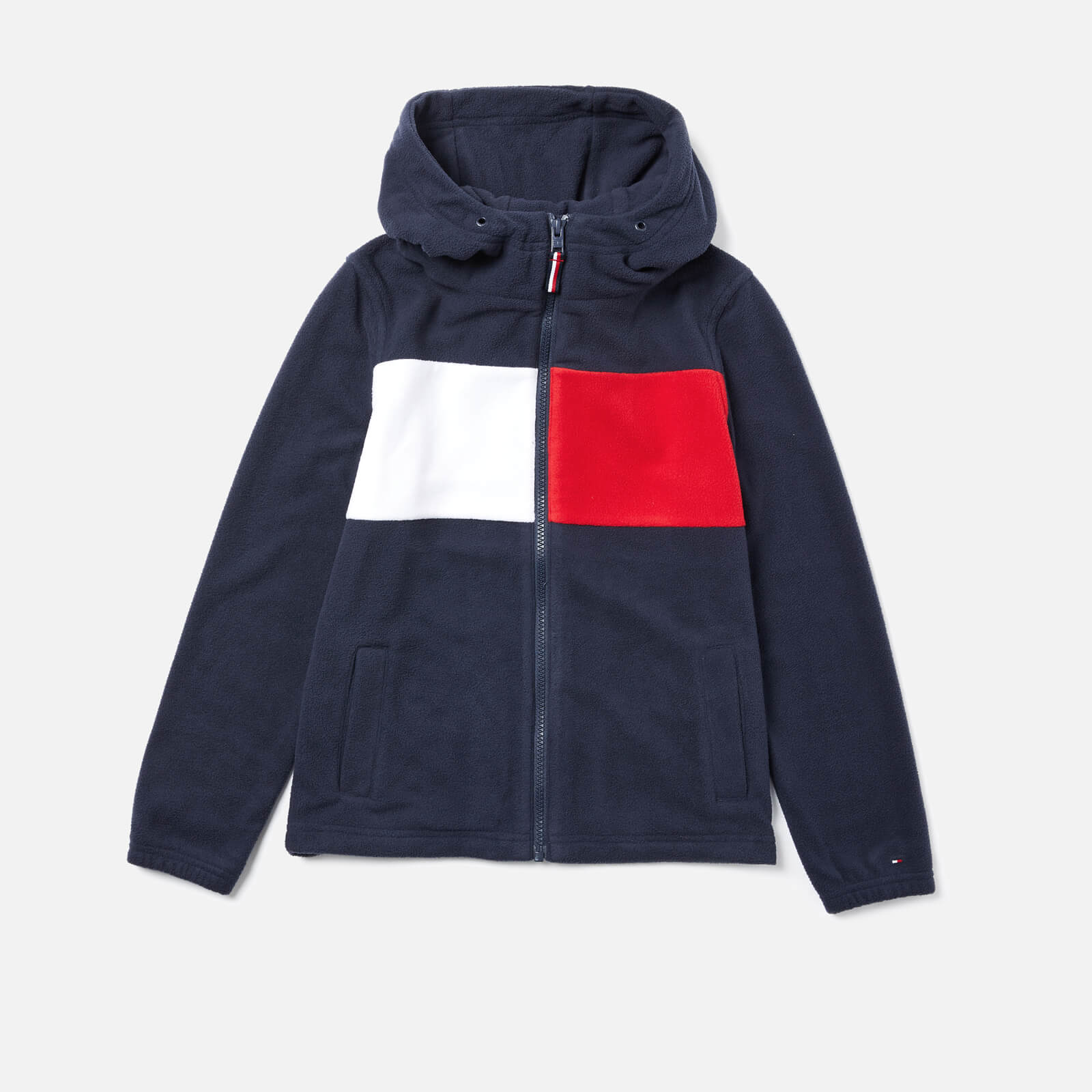 71bc4d40 Tommy Hilfiger Boys' Polar Fleece Flag Zip Hoody - Navy Clothing |  TheHut.com