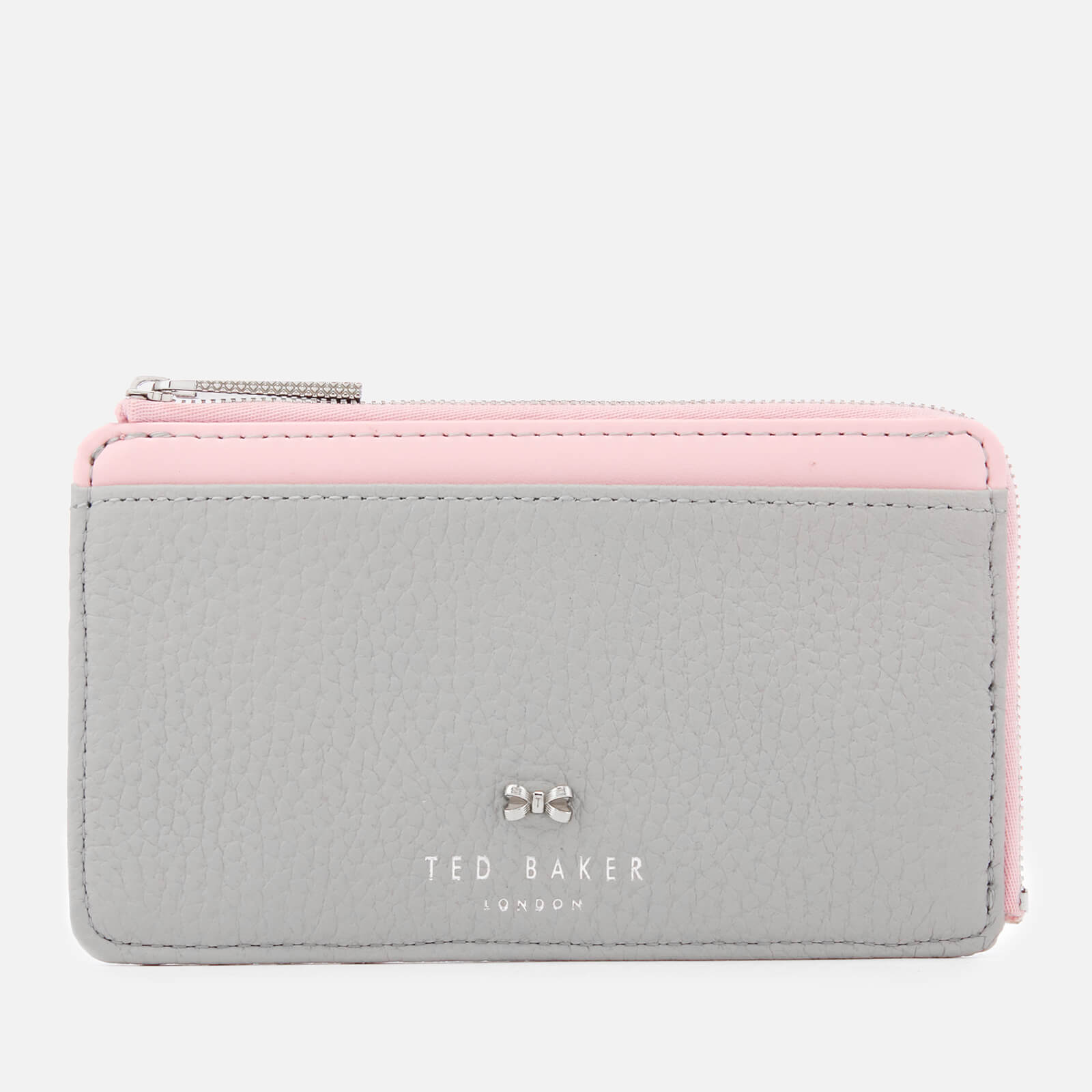 46416eb8b Ted Baker Women s Lotta Bow Detail Credit Card Holder - Grey Womens  Accessories