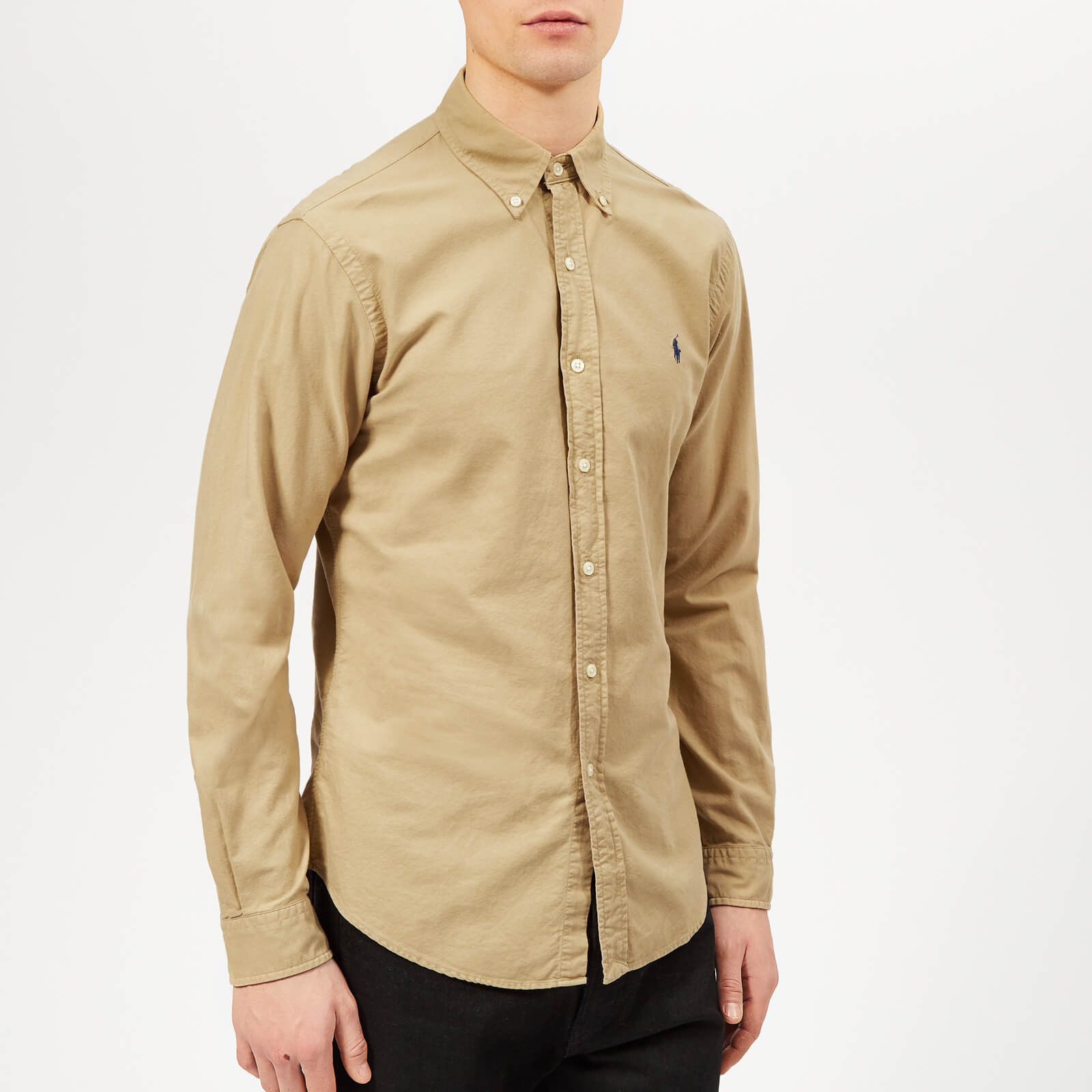 65b2d558c74b Polo Ralph Lauren Men s Garment Dyed Oxford Long Sleeve Shirt - Surrey Tan  - Free UK Delivery over £50
