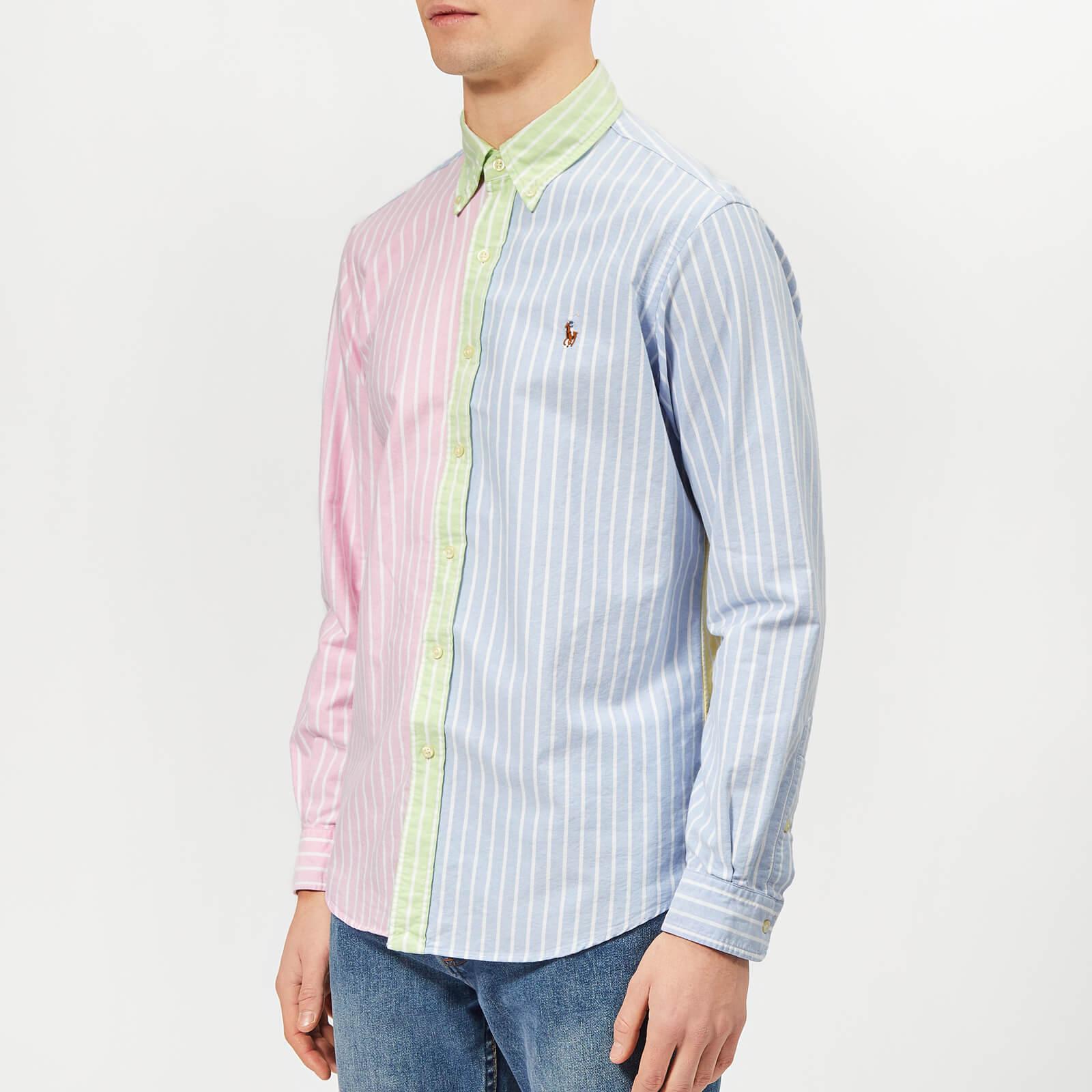 54d6ccf50e Polo Ralph Lauren Men's Oxford Regular Fit Shirt - Fun Stripe