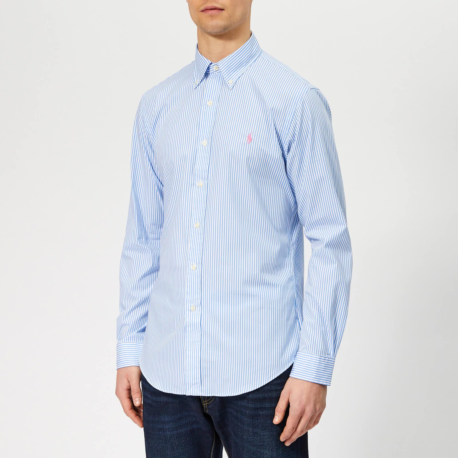 c47ba8409f Polo Ralph Lauren Men's Slim Fit Stretch Poplin Shirt - Powder Blue - Free  UK Delivery over £50