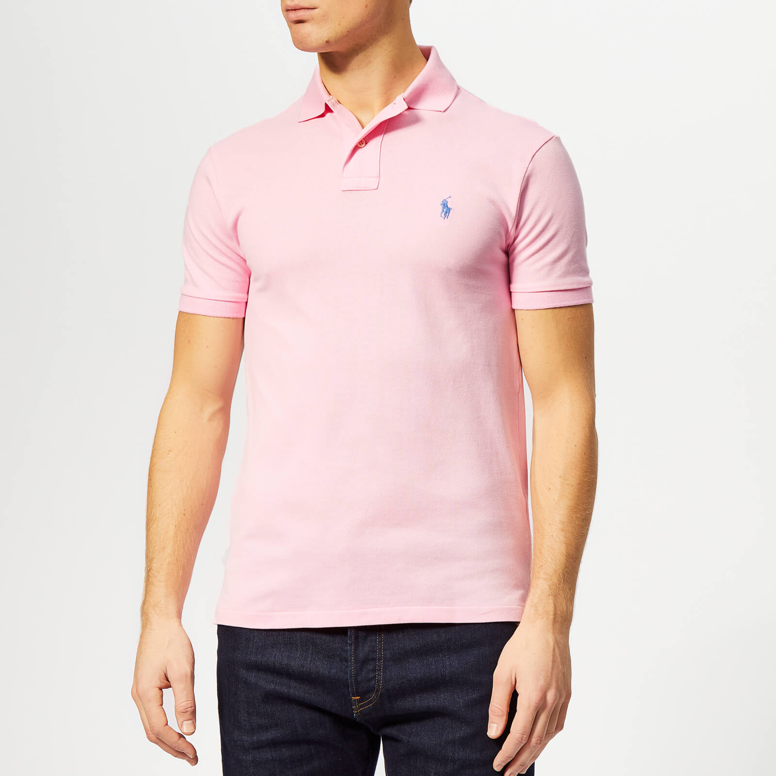 db753ce1c Polo Ralph Lauren Men's Basic Pique Slim Fit Polo-Shirt - Taylor Rose -  Free UK Delivery over £50