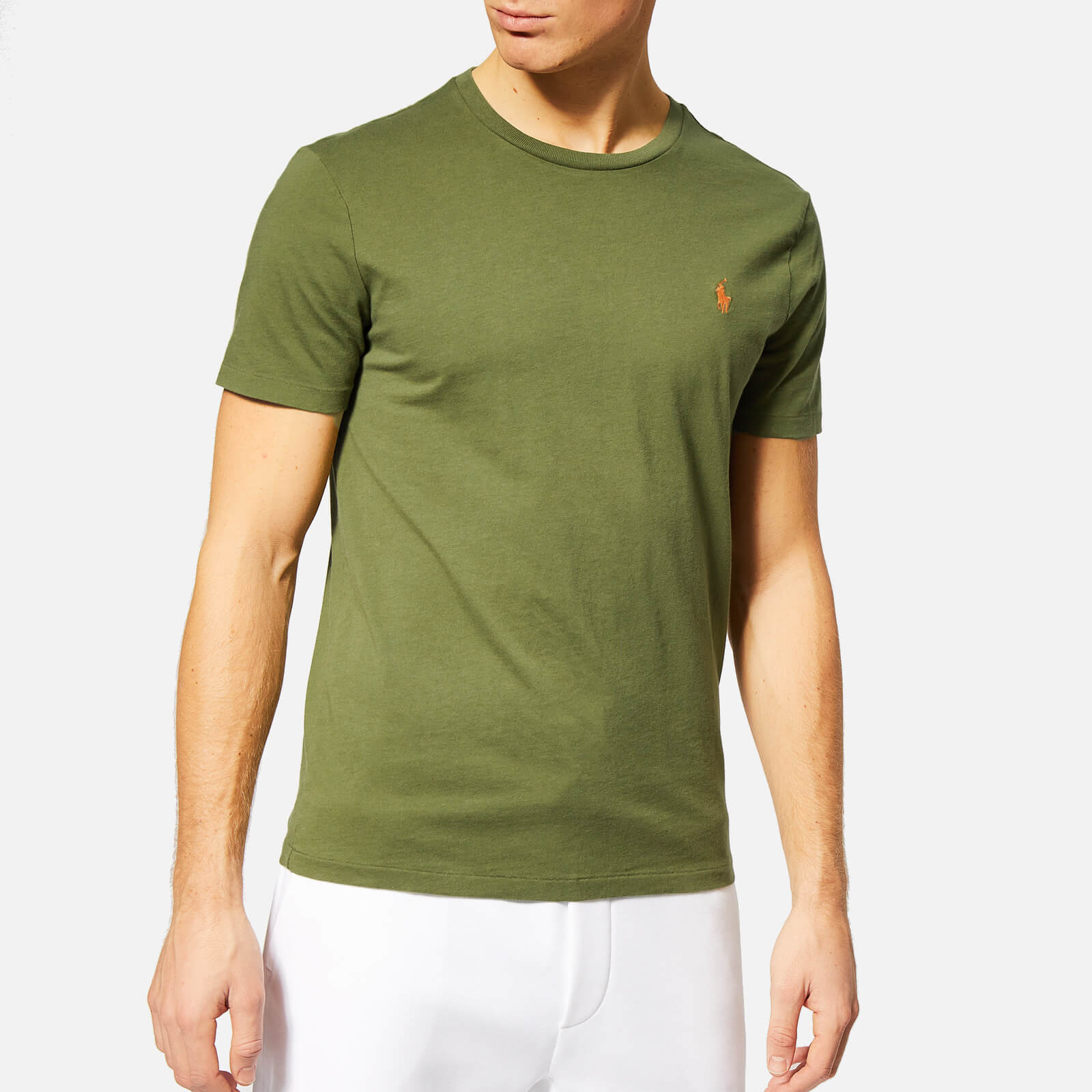 8062dc5e7 Polo Ralph Lauren Men s Custom Slim Fit Crew Neck T-Shirt - Supply Olive -  Free UK Delivery over £50