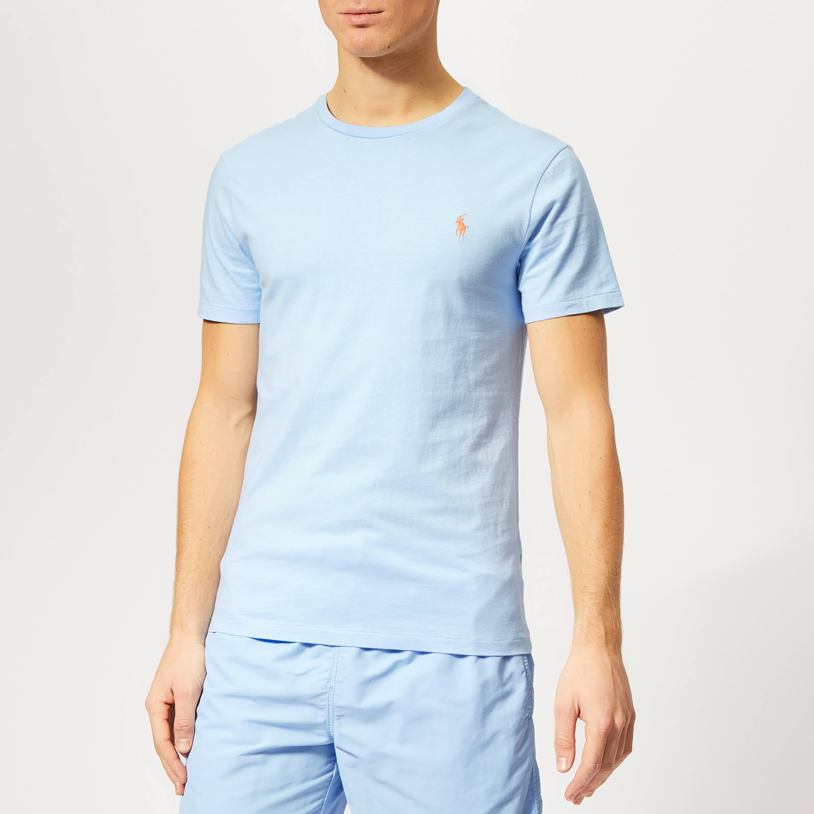8f974893f Polo Ralph Lauren Men's Crew Neck T-Shirt - Baby Blue - Free UK Delivery  over £50