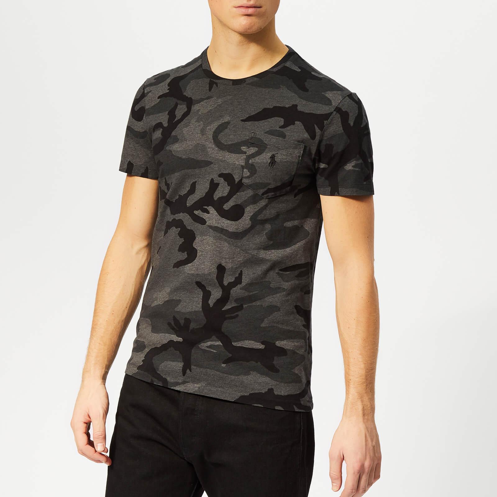 Cotton Jersey Ralph Charcoal Rl Camo T Shirt Lauren Polo Men's EDIYW2H9