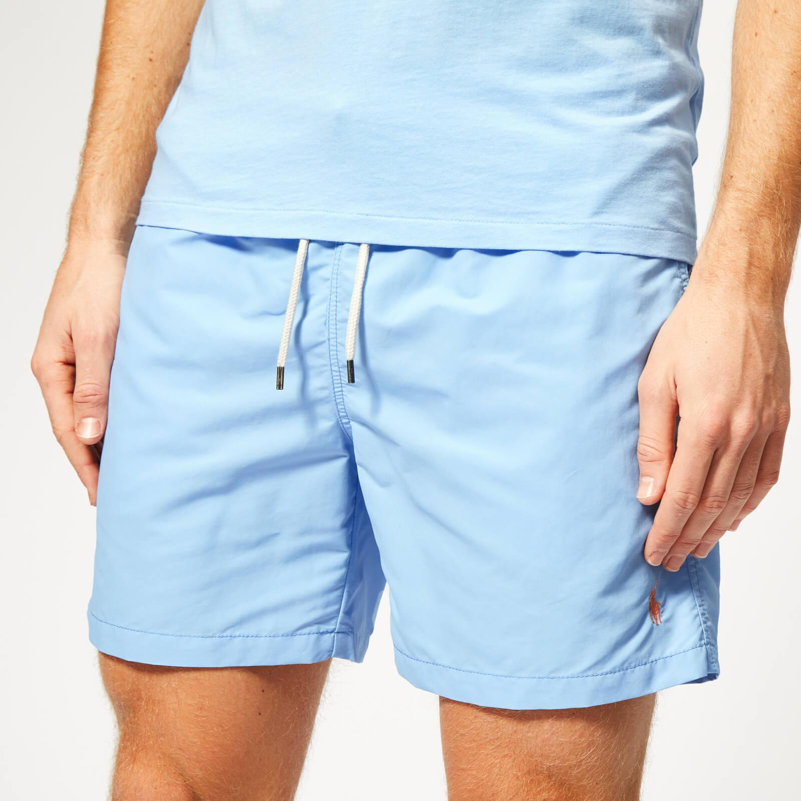 fd2f99456 Polo Ralph Lauren Men s Traveller Swim Shorts - Baby Blue - Free UK  Delivery over £50