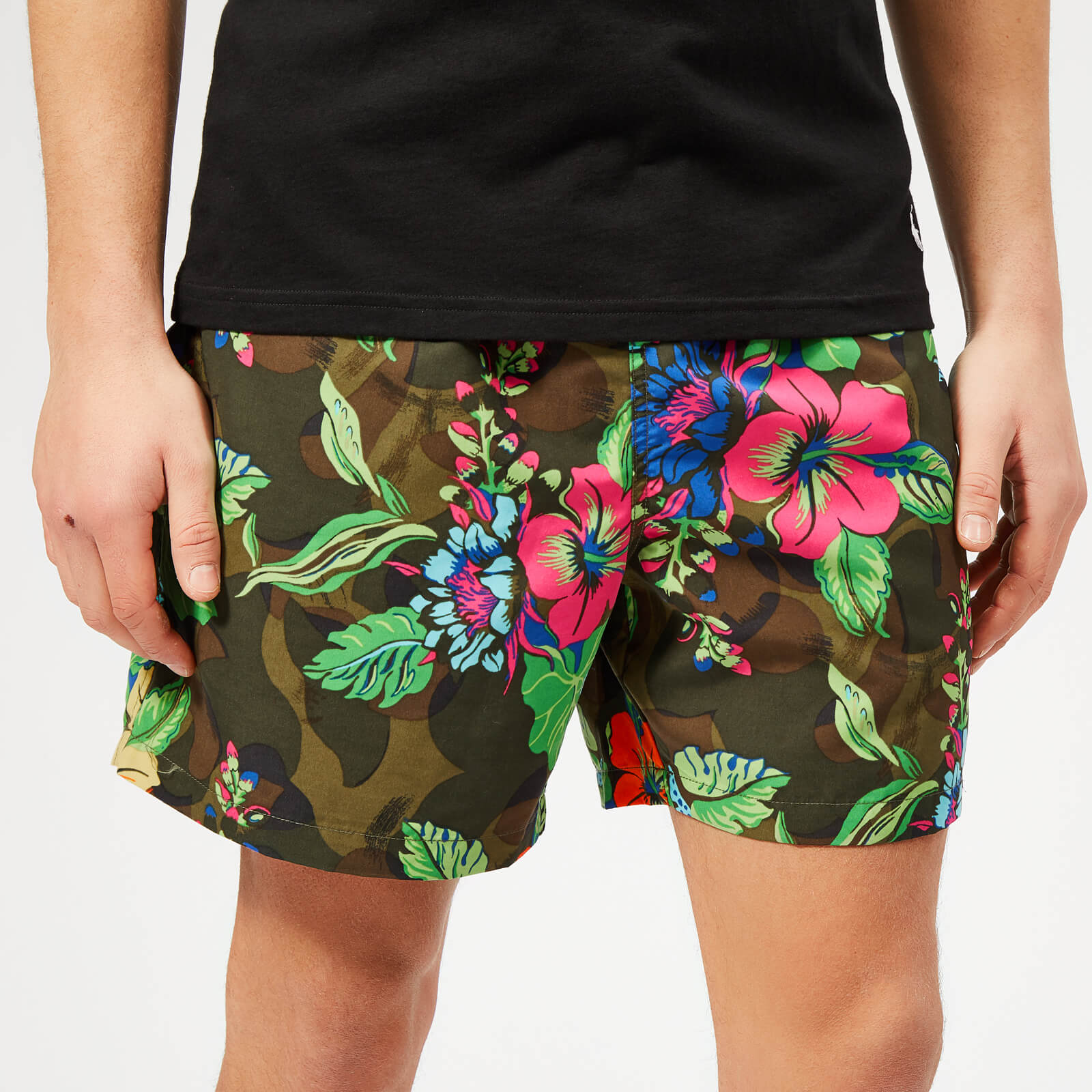 41cfde2b94 Polo Ralph Lauren Men's Traveler Swim Shorts - Tropical On Camo - Free UK  Delivery over £50