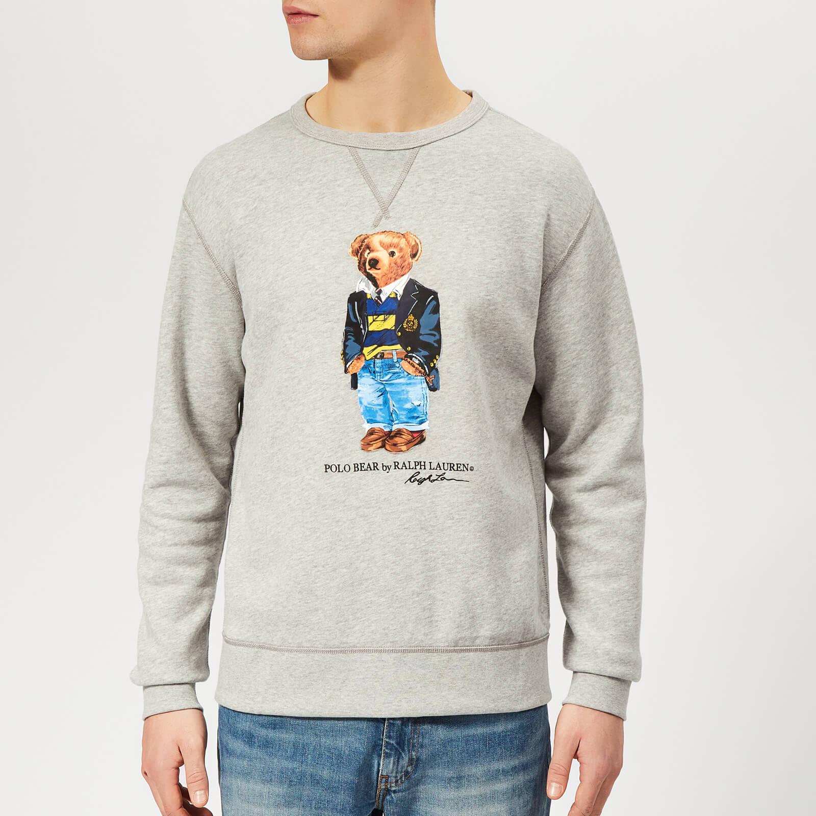 8d706377 Polo Ralph Lauren Men's Bear Sweatshirt - Andover Heather - Free UK  Delivery over £50
