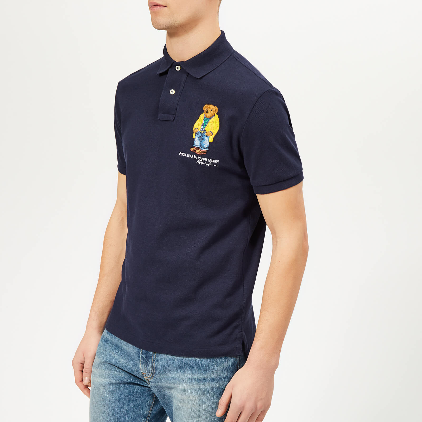 37dfaf6e7 Polo Ralph Lauren Men's Bear Embroidered Polo Shirt - Cruise Navy - Free UK  Delivery over £50