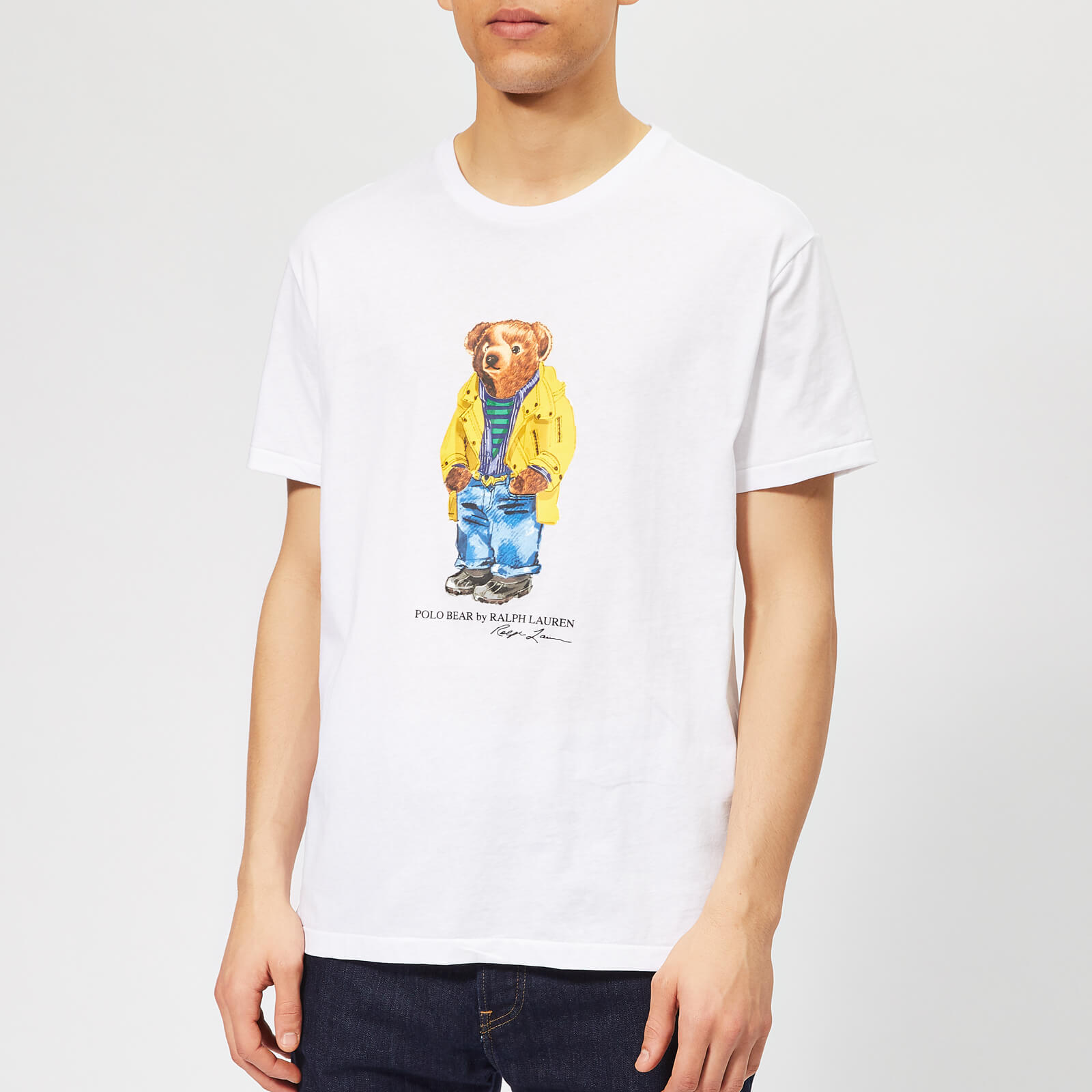 3879edcce84815 Polo Ralph Lauren Men's Bear T-Shirt - White - Free UK Delivery over £50