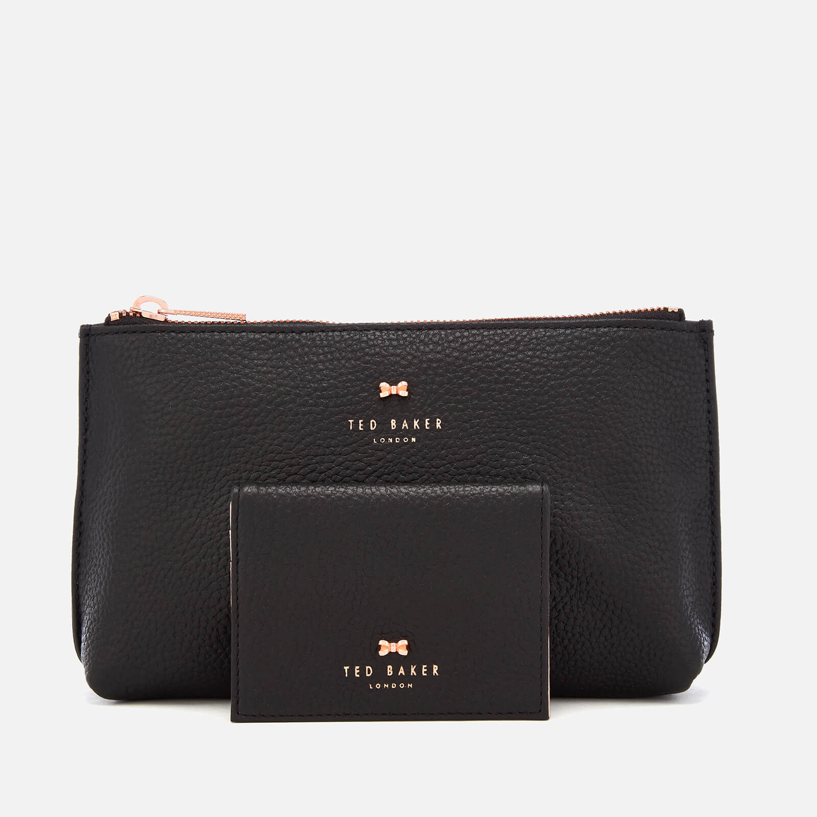 20bb853fd Ted Baker Women s Fabiana Bow Washbag and Mirror Set - Black Womens ...
