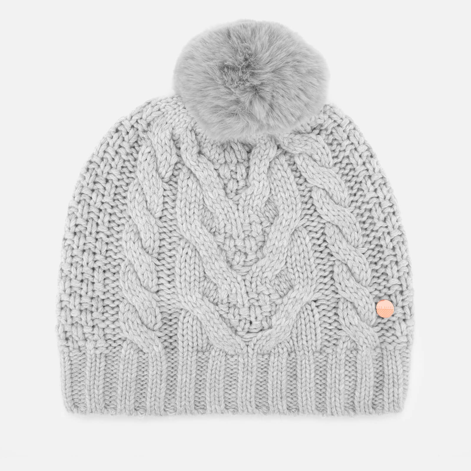 b0454ae8e33 Ted Baker Women s Quirsa Cable Knit Pom Hat - Light Grey Womens Accessories