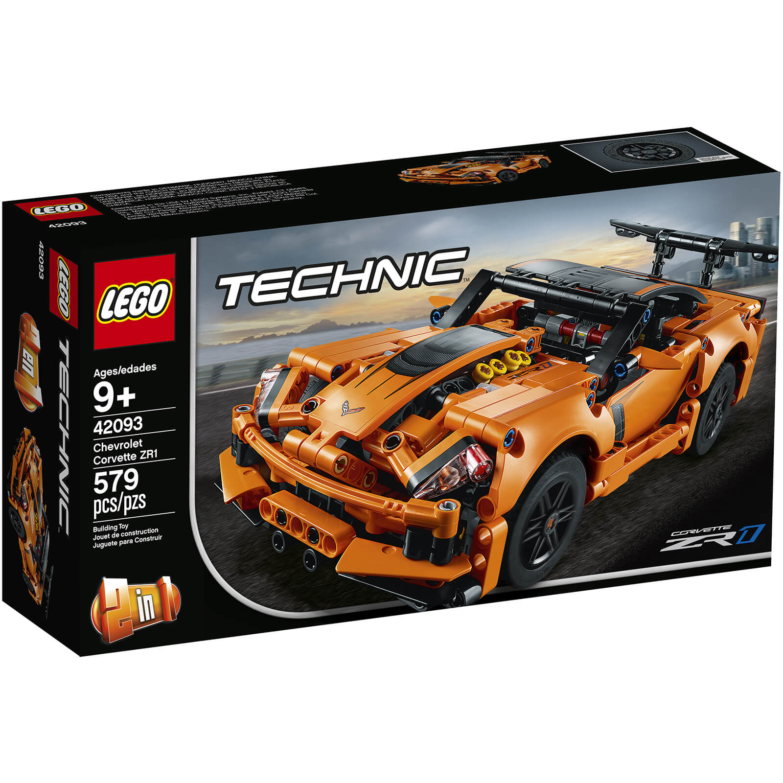 Lego Technic Corvette Super Car 42093 Toys Thehutcom