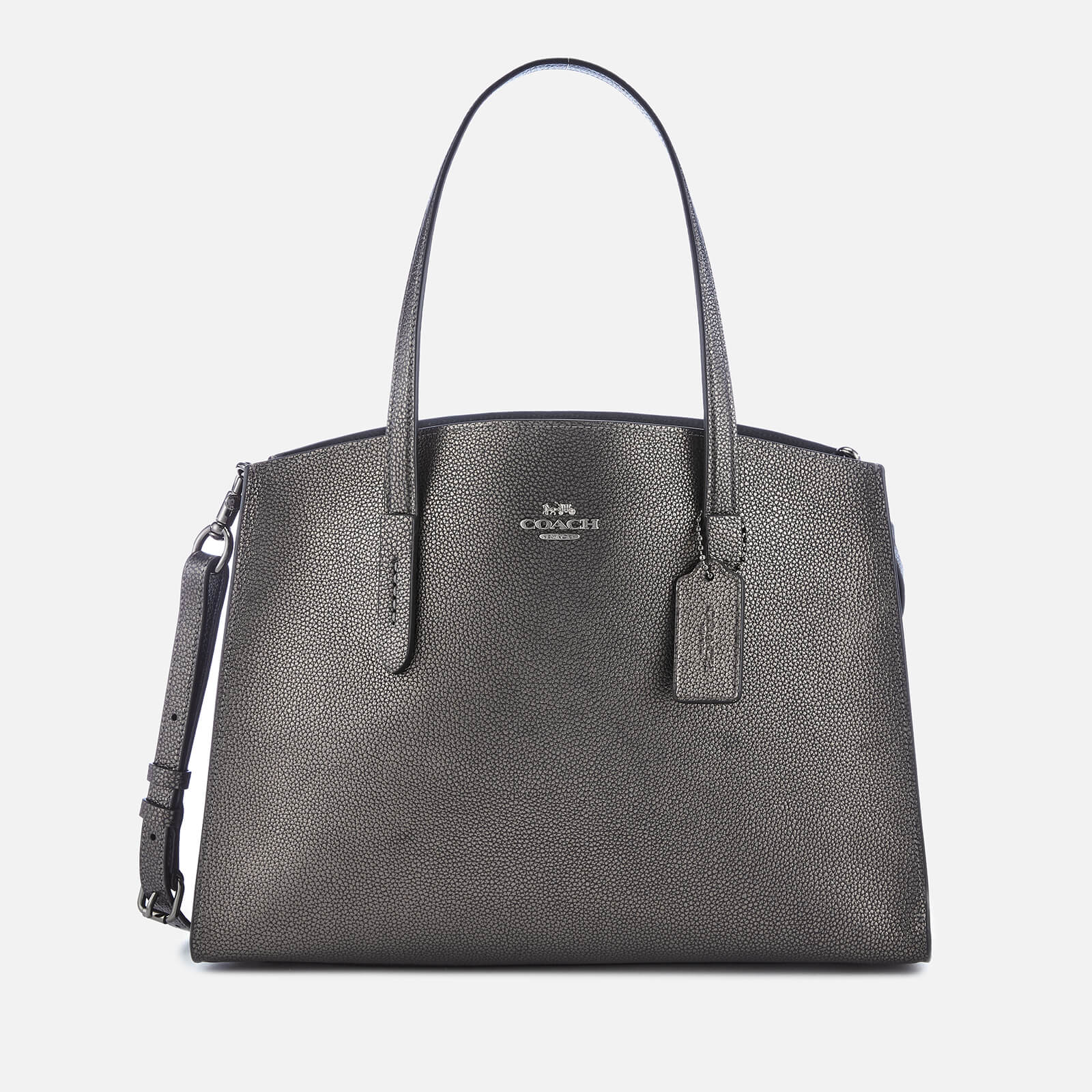 253aeb02c Coach Women's Metallic Leather Charlie Carryall Bag - Metallic ...