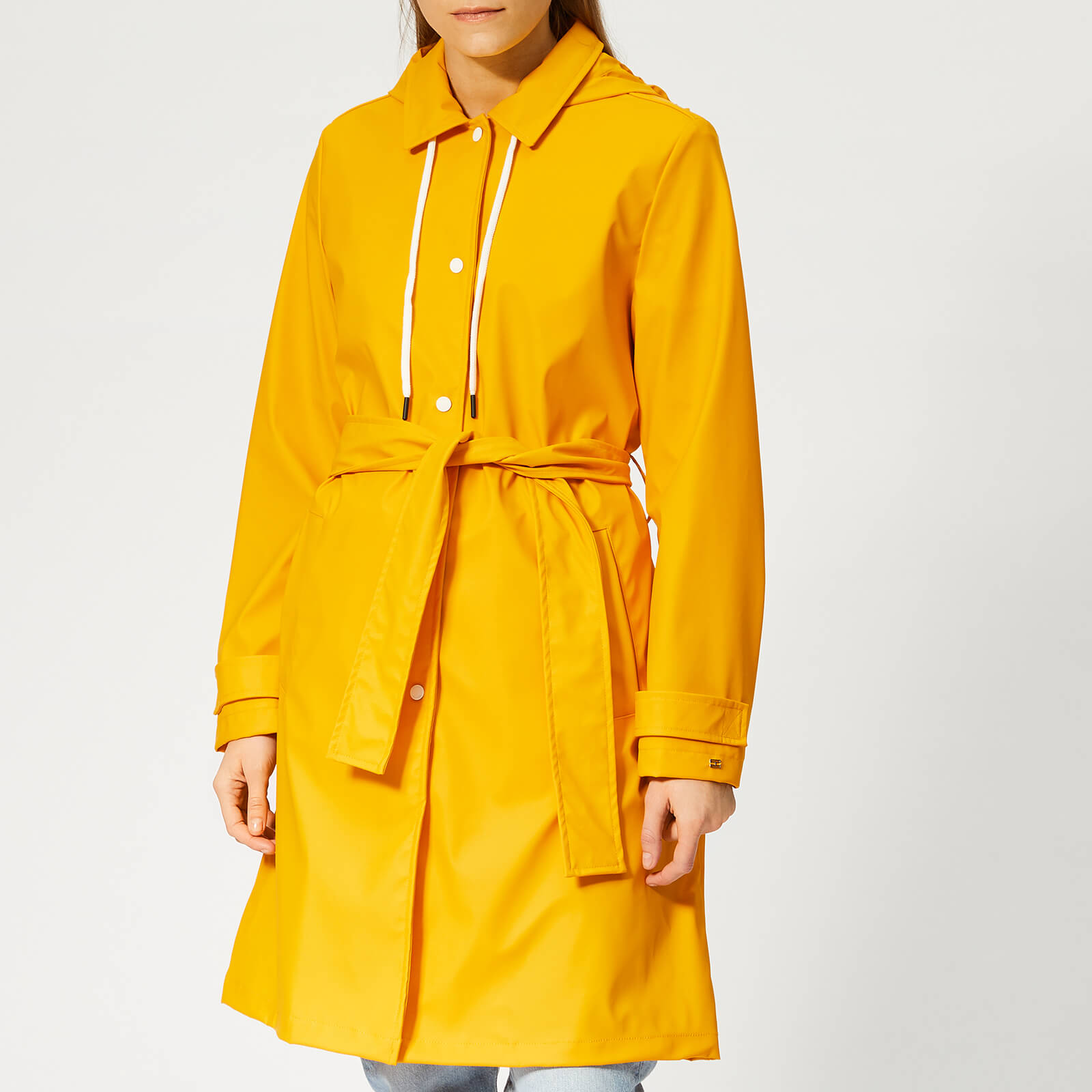 official sale choose official new concept Tommy Hilfiger Women's Britt Hooded Trench Coat - Yellow