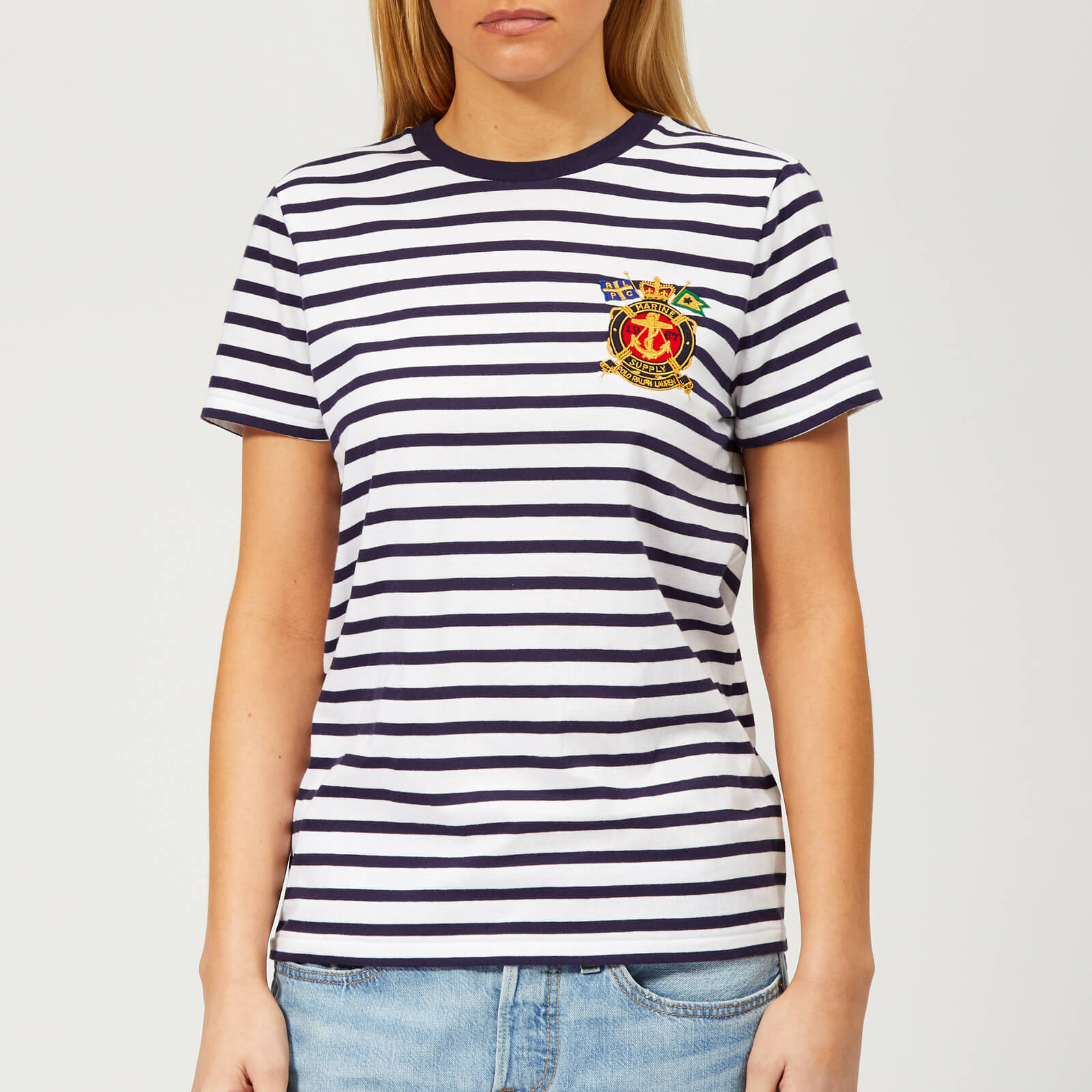 45d318c92c Polo Ralph Lauren Women's Cross Flag Stripe T-Shirt - Multi